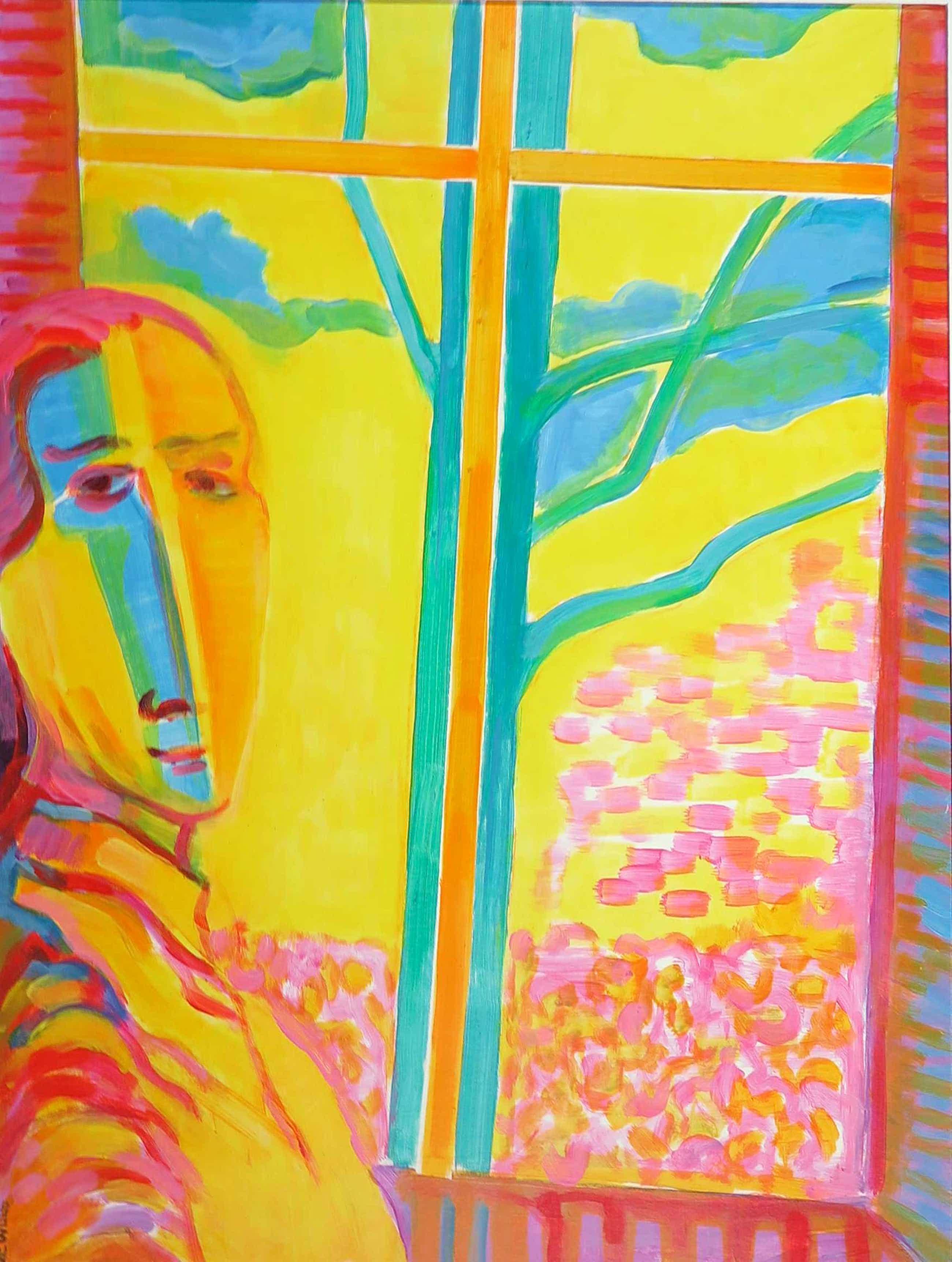 Joe Wols - Acryl op papier, Spring garden kopen? Bied vanaf 35!
