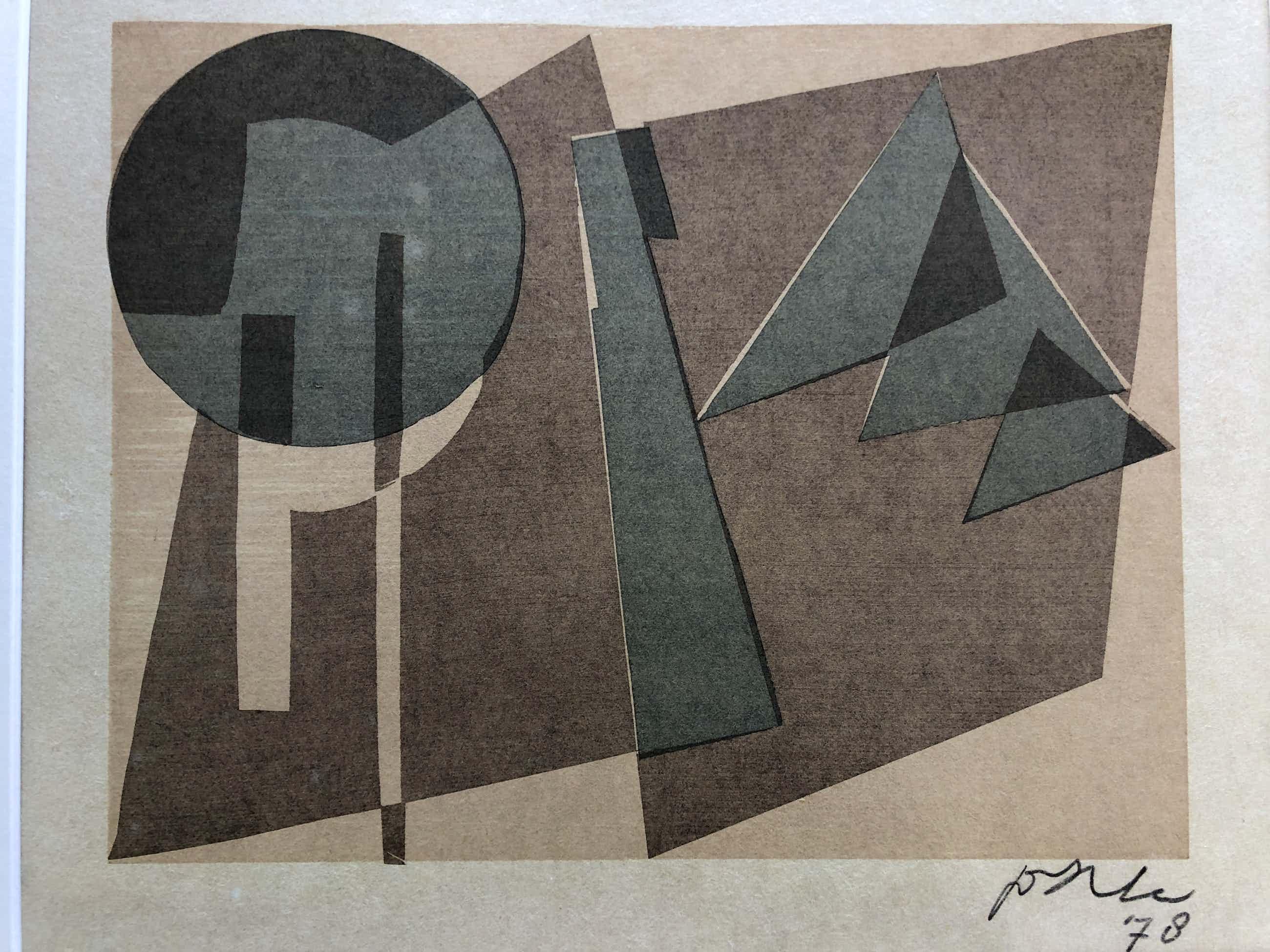 Jan van der Zee - Abstracte compositie met lijst kopen? Bied vanaf 135!