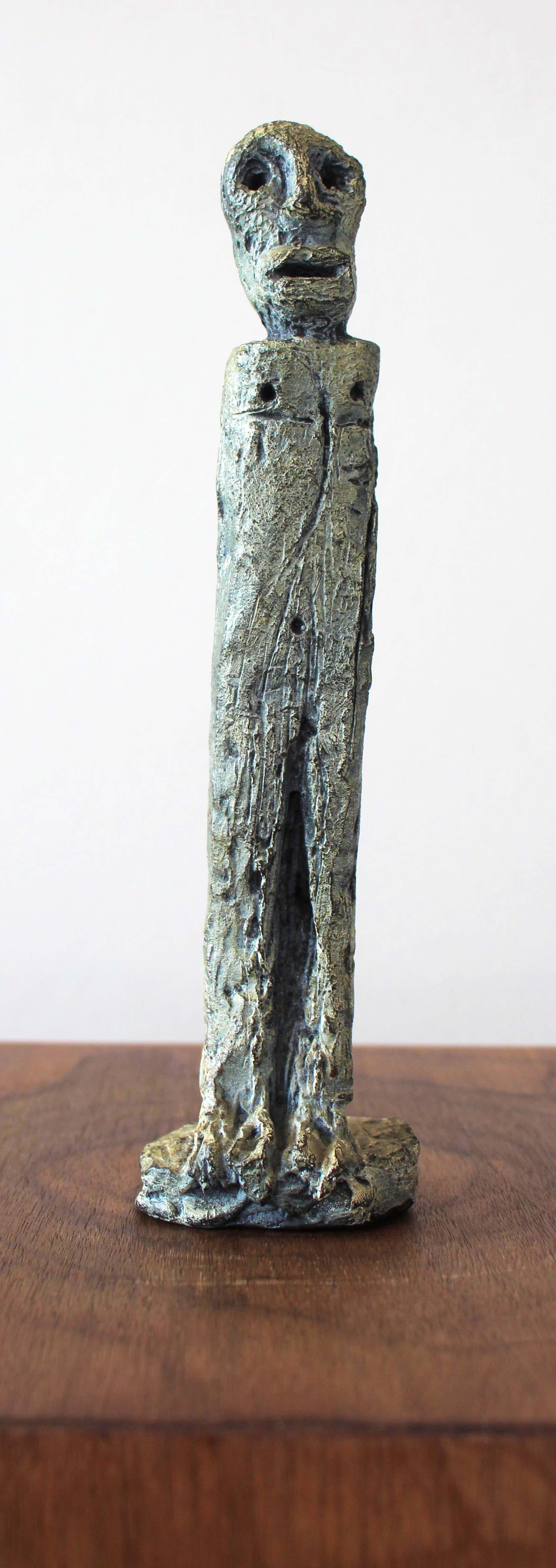 Rik van Iersel - gesigneerd bronzen sculptuur: staand figuur kopen? Bied vanaf 450!
