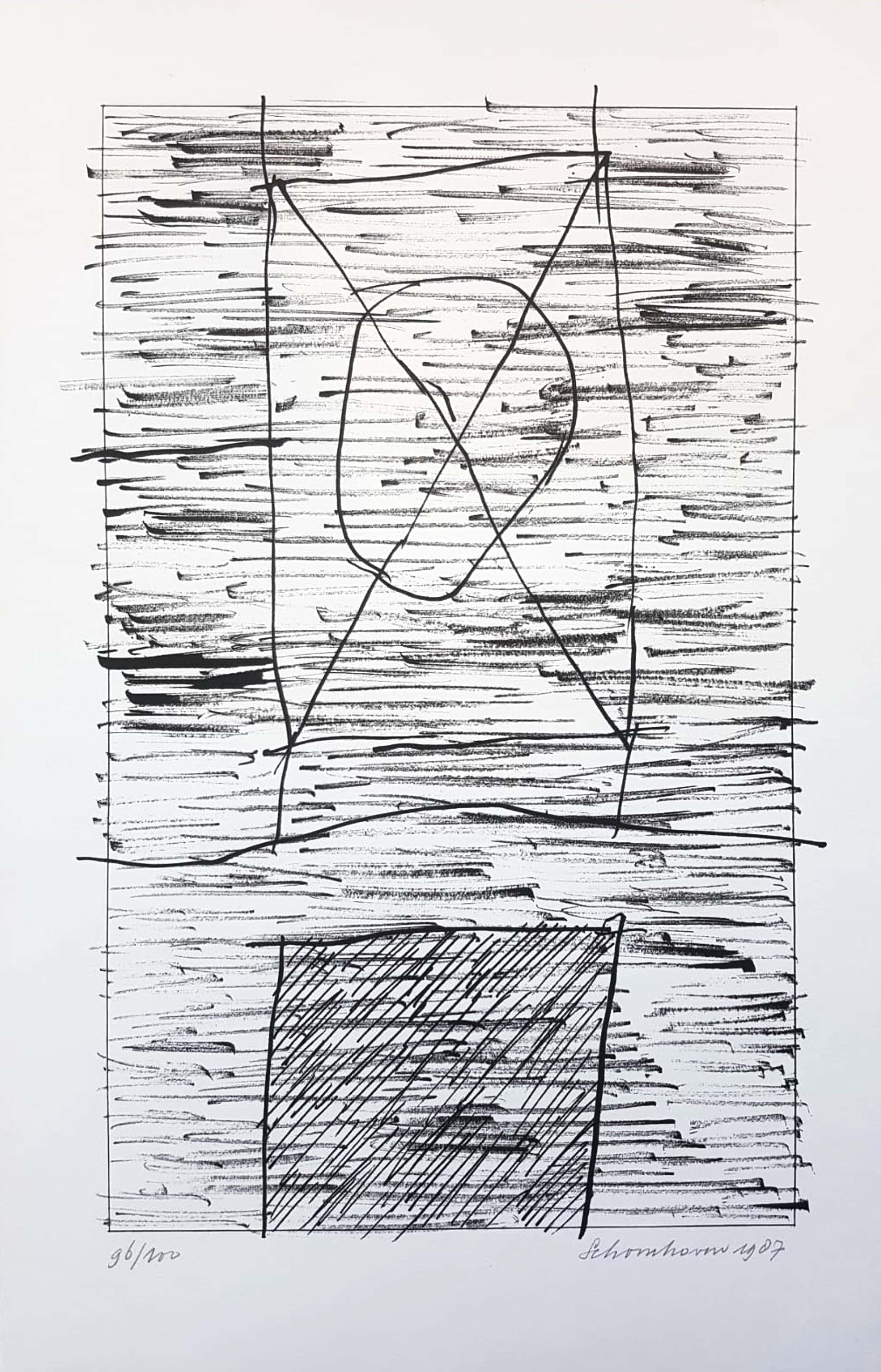 Jan Schoonhoven - (1914-1994)originele grote litho handgesigneerd,genummerd & gedateerd 1987 kopen? Bied vanaf 285!