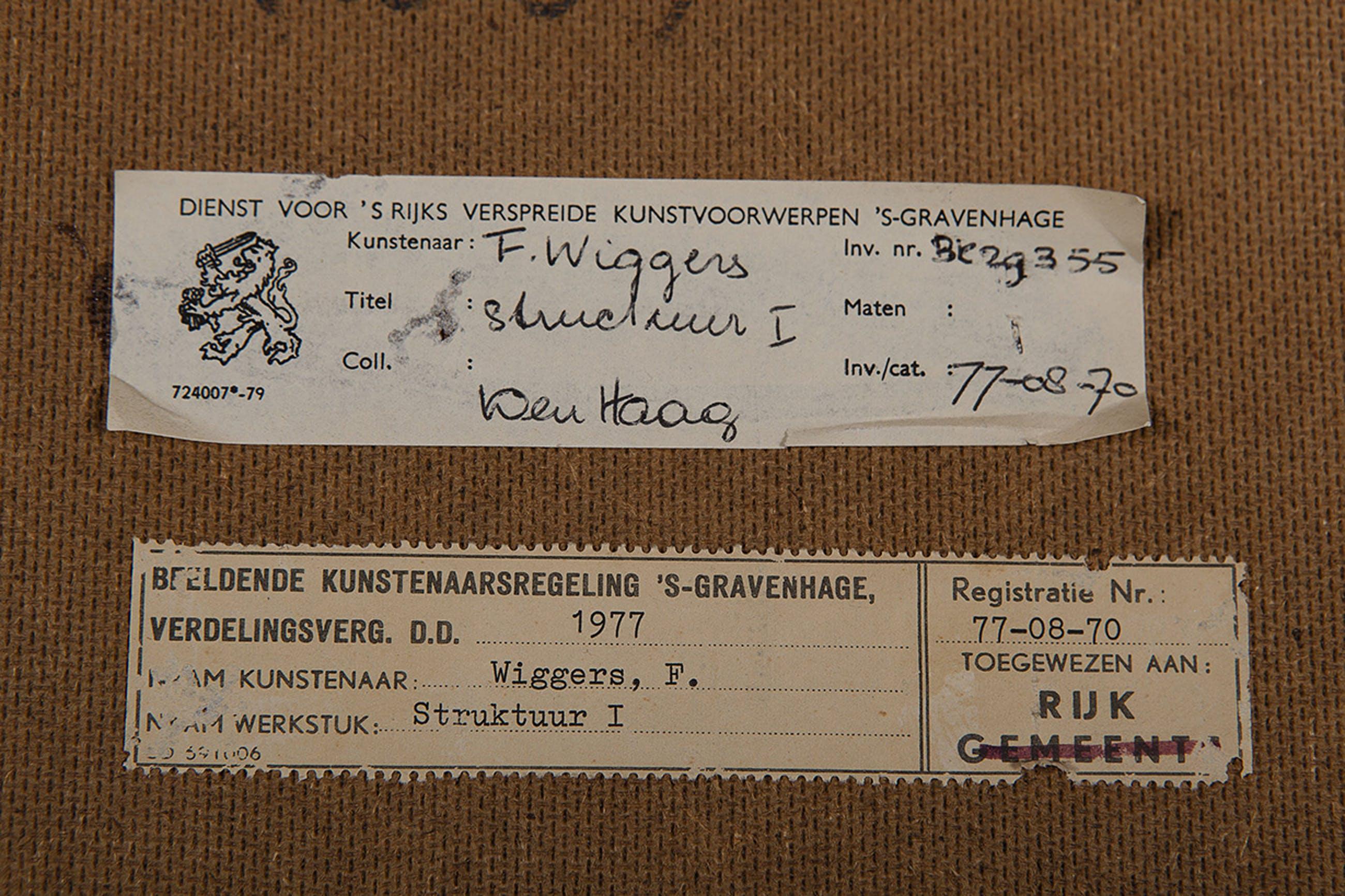 Frits Wiggers - Structuur I - 1977 - 88 fotoprints gelijmd op papier - BKR Den Haag kopen? Bied vanaf 20!