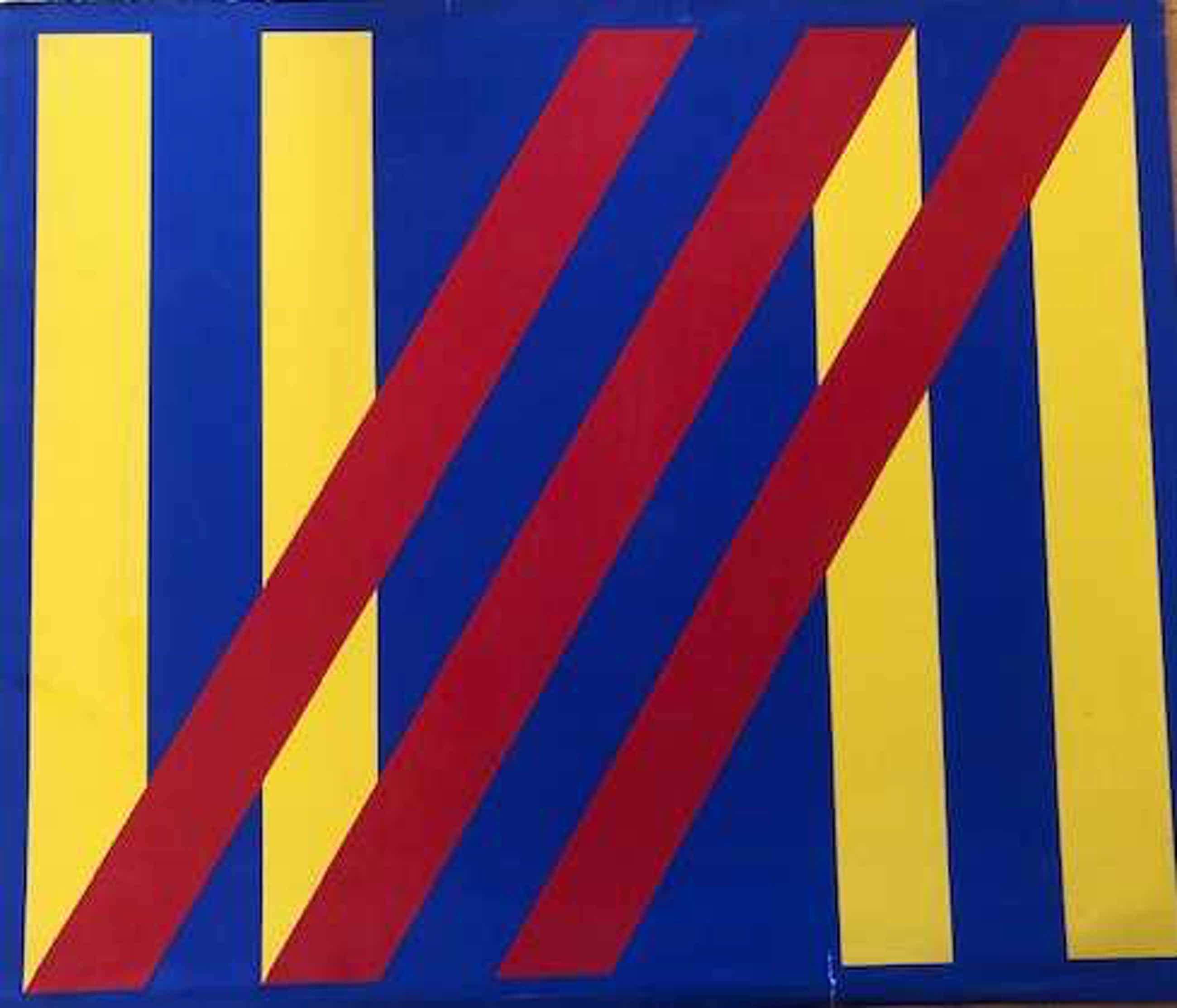 Bob Bonies - Blauw-rood-gele compositie - 1967 kopen? Bied vanaf 50!