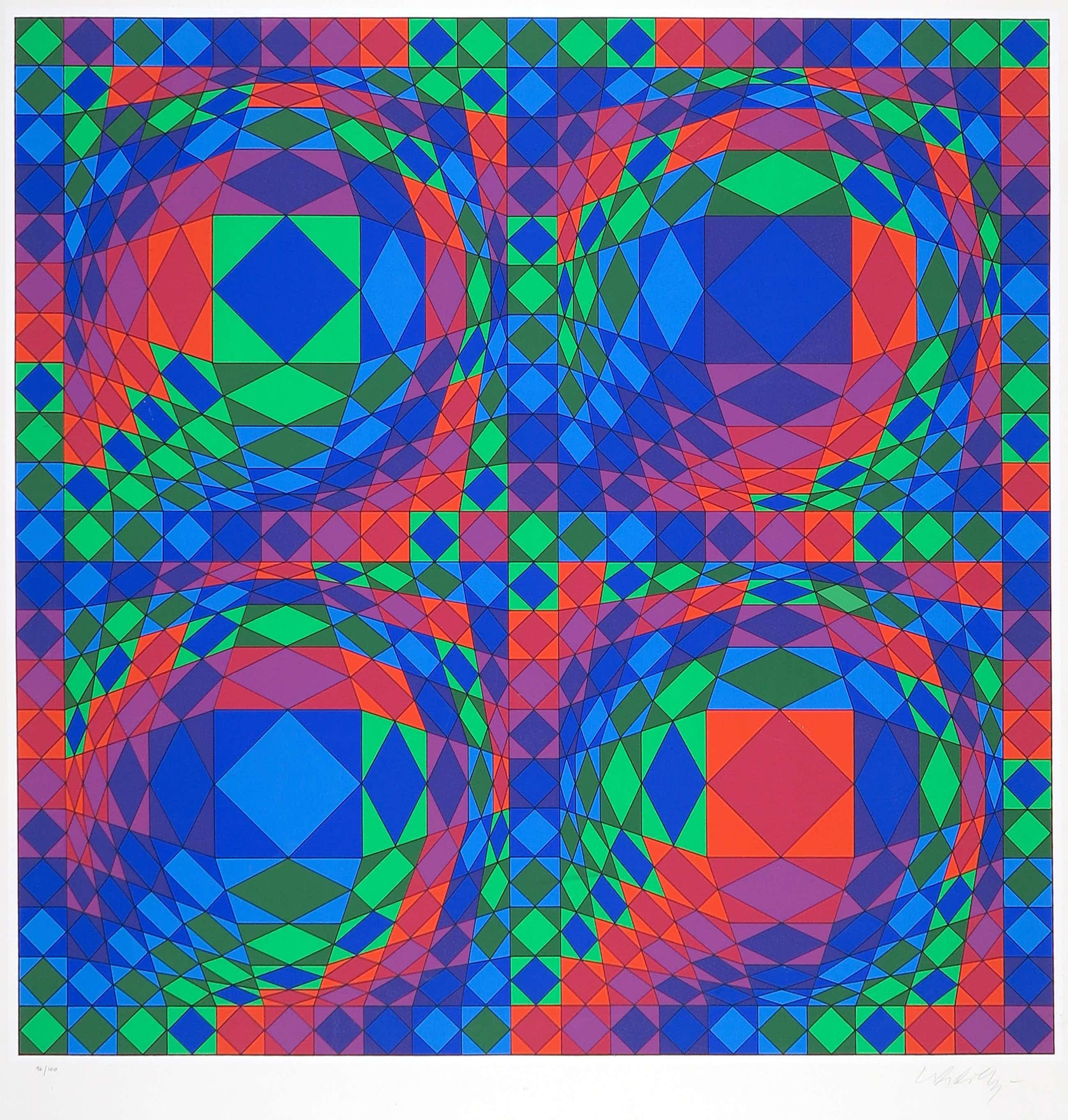 Victor Vasarely - Zeefdruk, Quadrature X kopen? Bied vanaf 251!