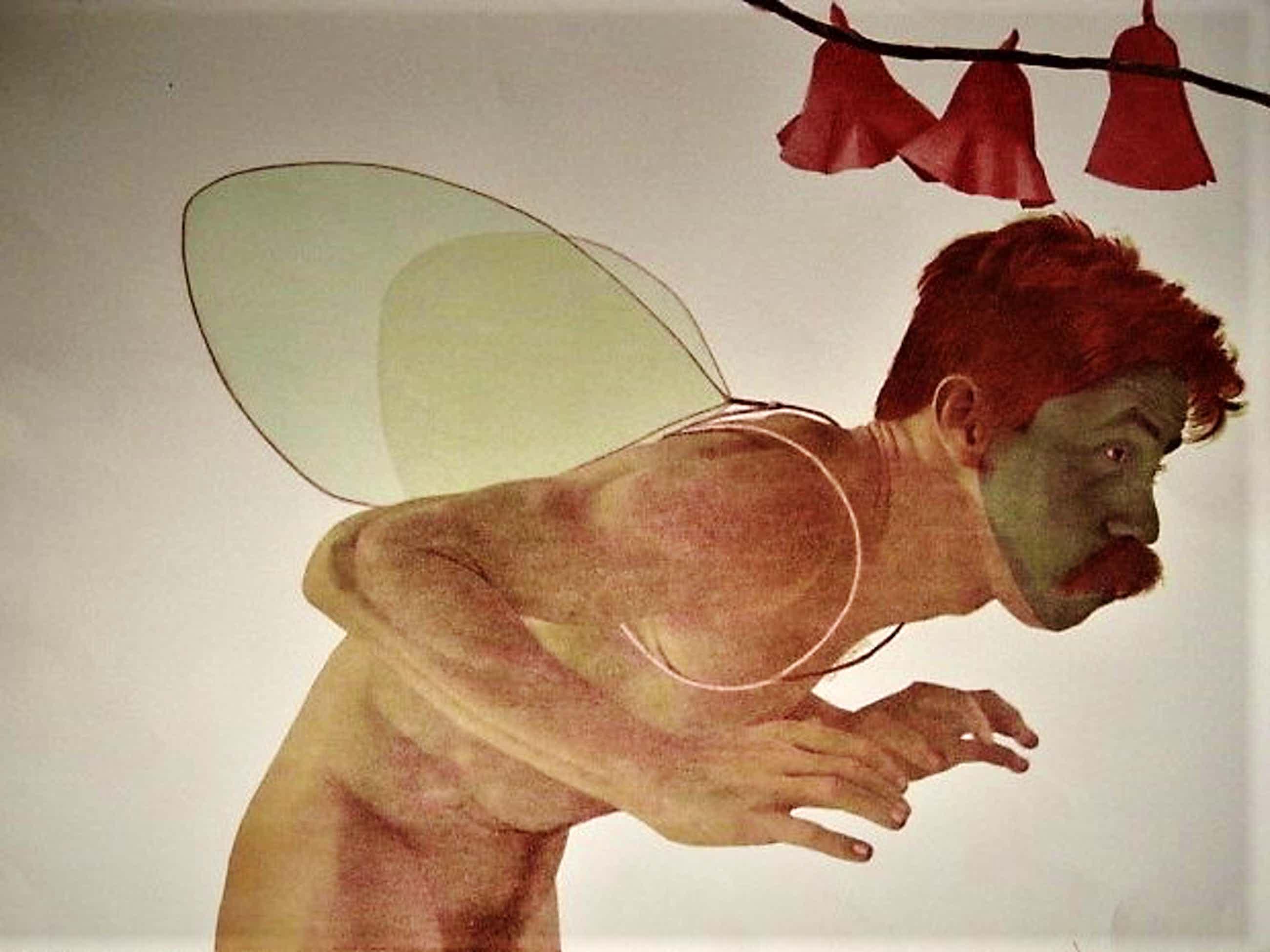 """Rodolfo Meli - Toscaans Graficus - Groot Gesigneerd Litho """" Zelfportret als Icarus""""  kopen? Bied vanaf 71!"""