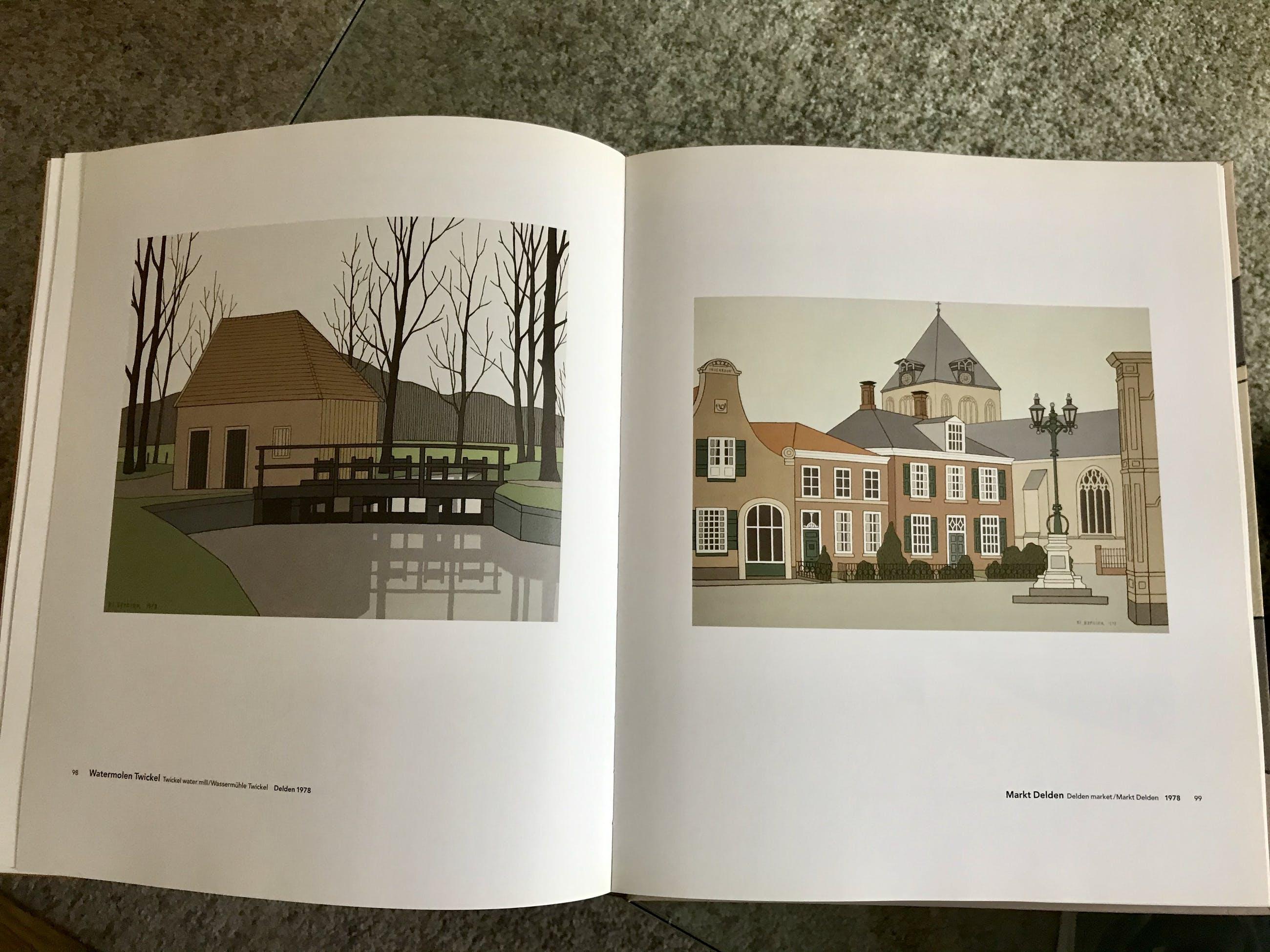 Klaas Bernink - Dorpsgebouw, 110/300 ingelijst + boek kopen? Bied vanaf 159!