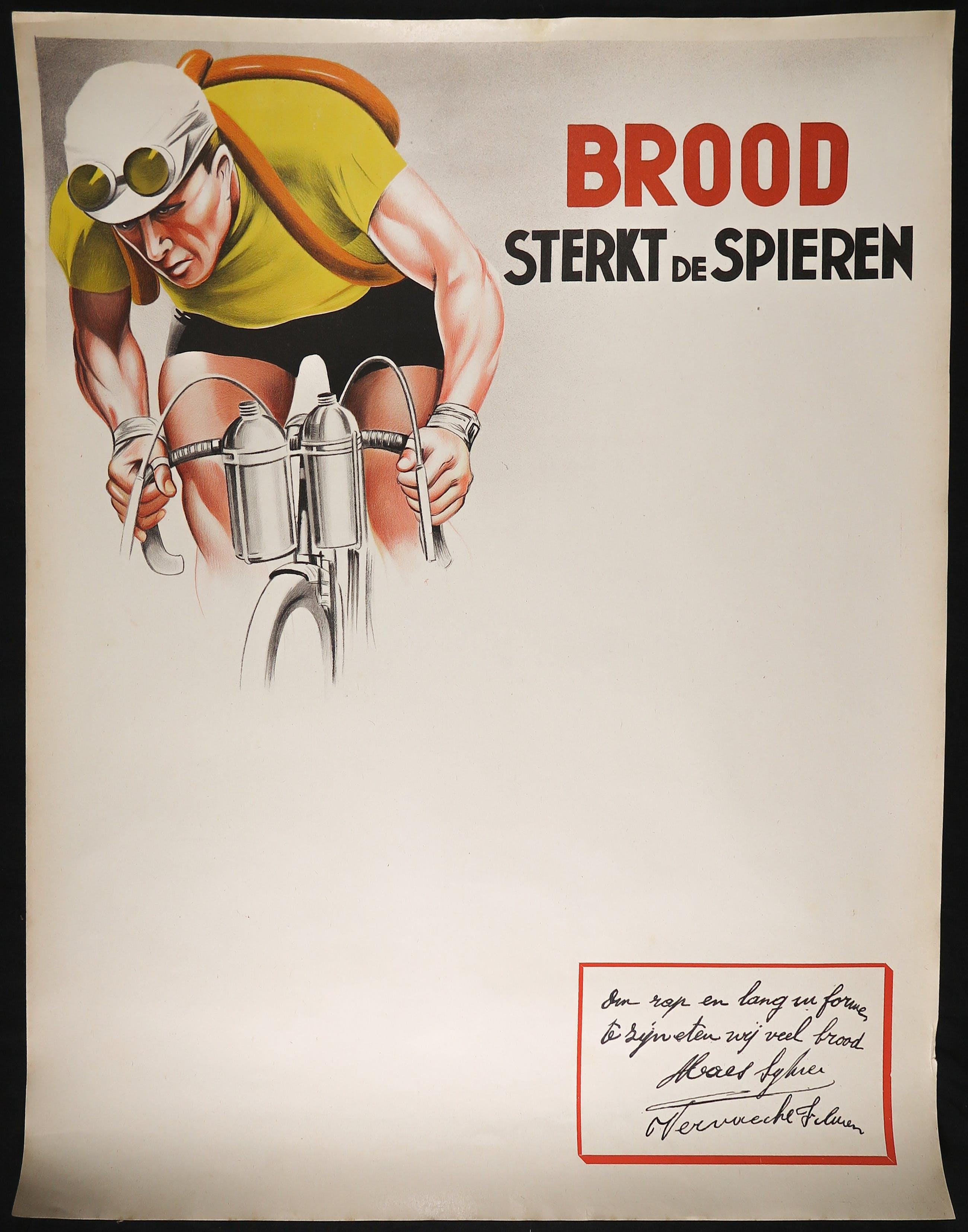 Affiche, Brood sterkt de spieren kopen? Bied vanaf 1!