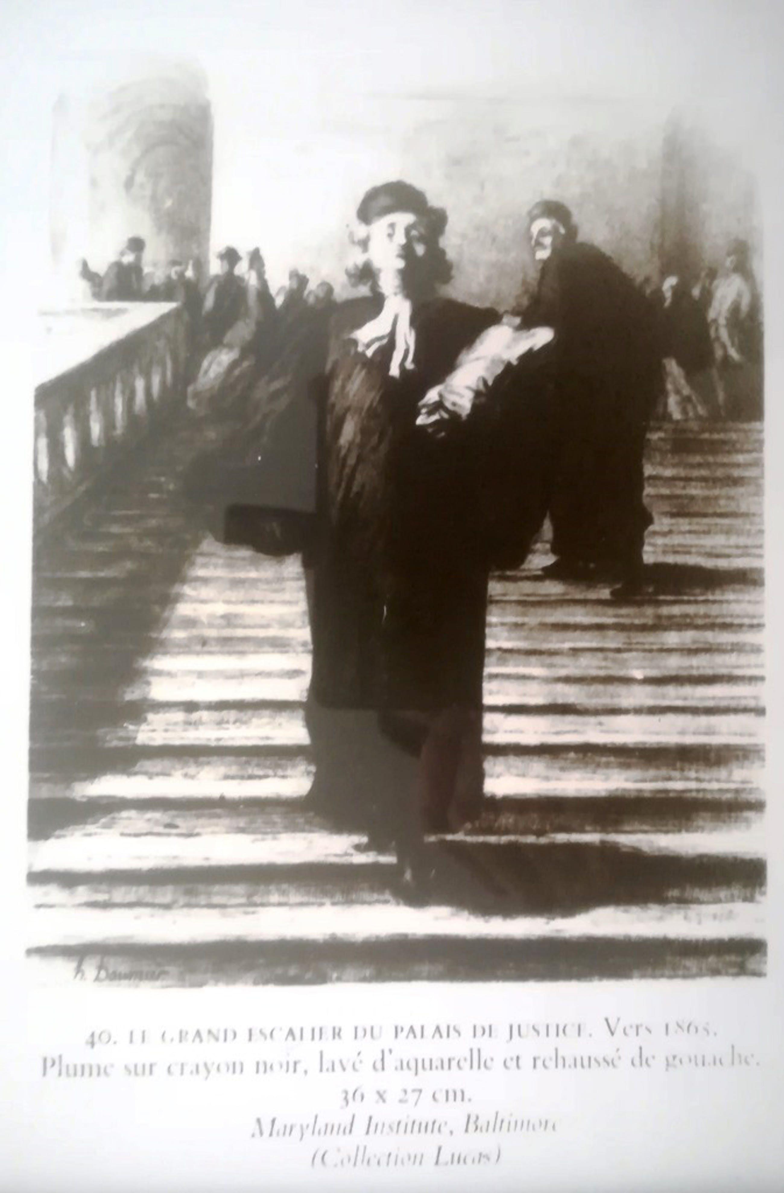 Honore Daumier - Honoré Daumier (1808-1879) | Le grand escalier du palais de justice kopen? Bied vanaf 35!