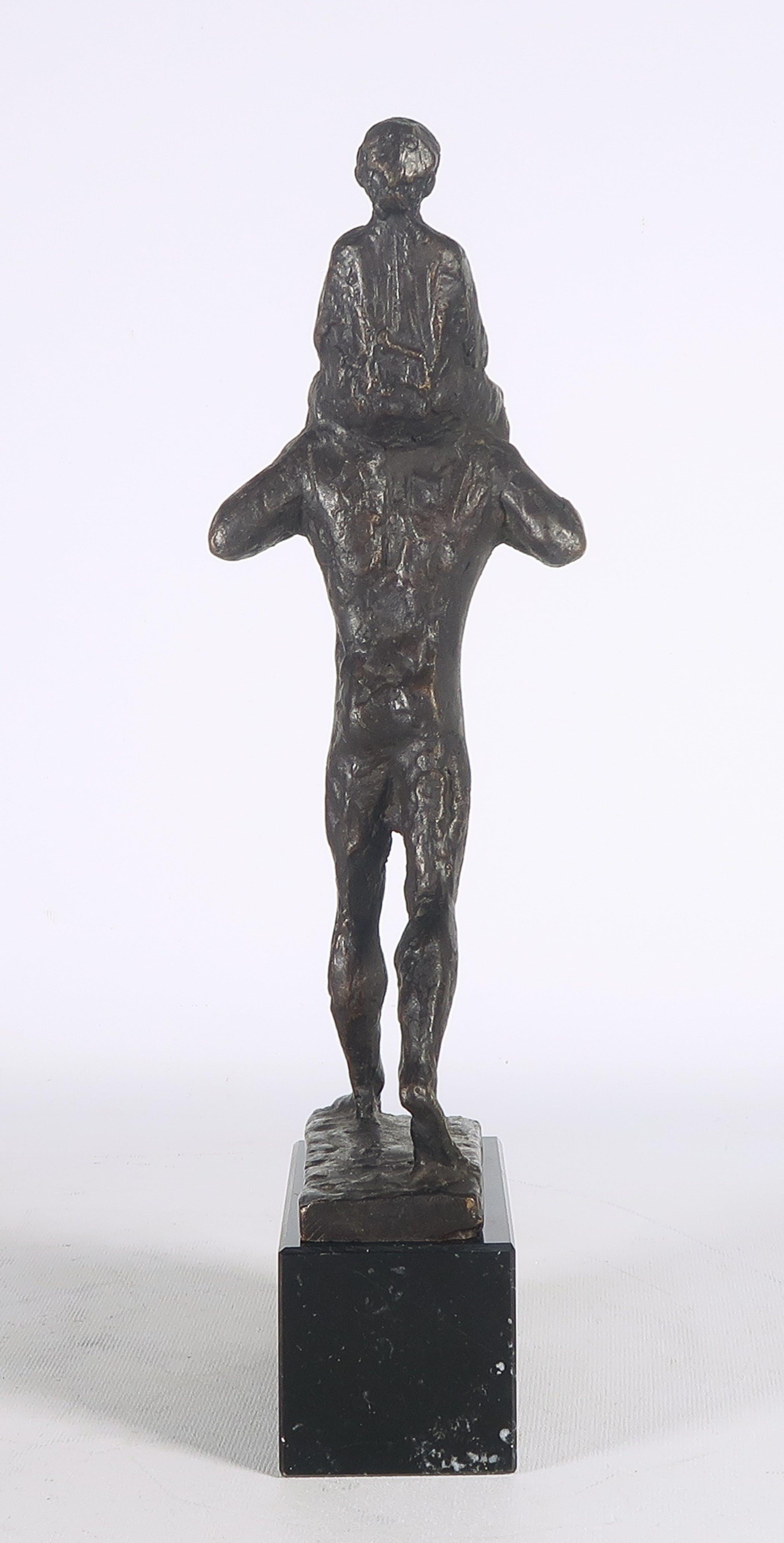 Pieter d' Hont - Brons, Man en kind kopen? Bied vanaf 650!