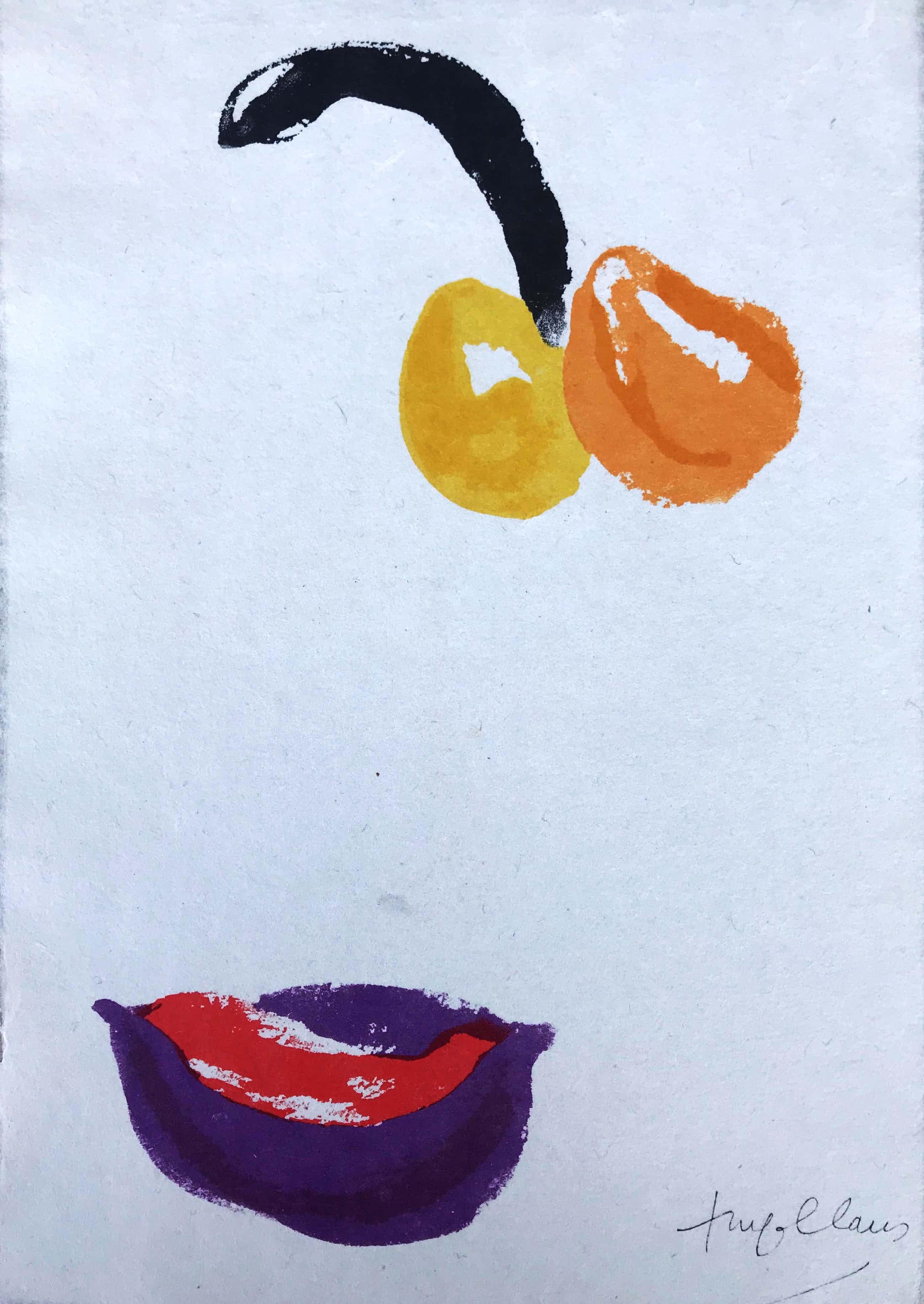 Hugo Claus - Mooie kleurenlitho/Offset - 'Van de zinnen en de vruchten' - Beperkte Oplage kopen? Bied vanaf 75!