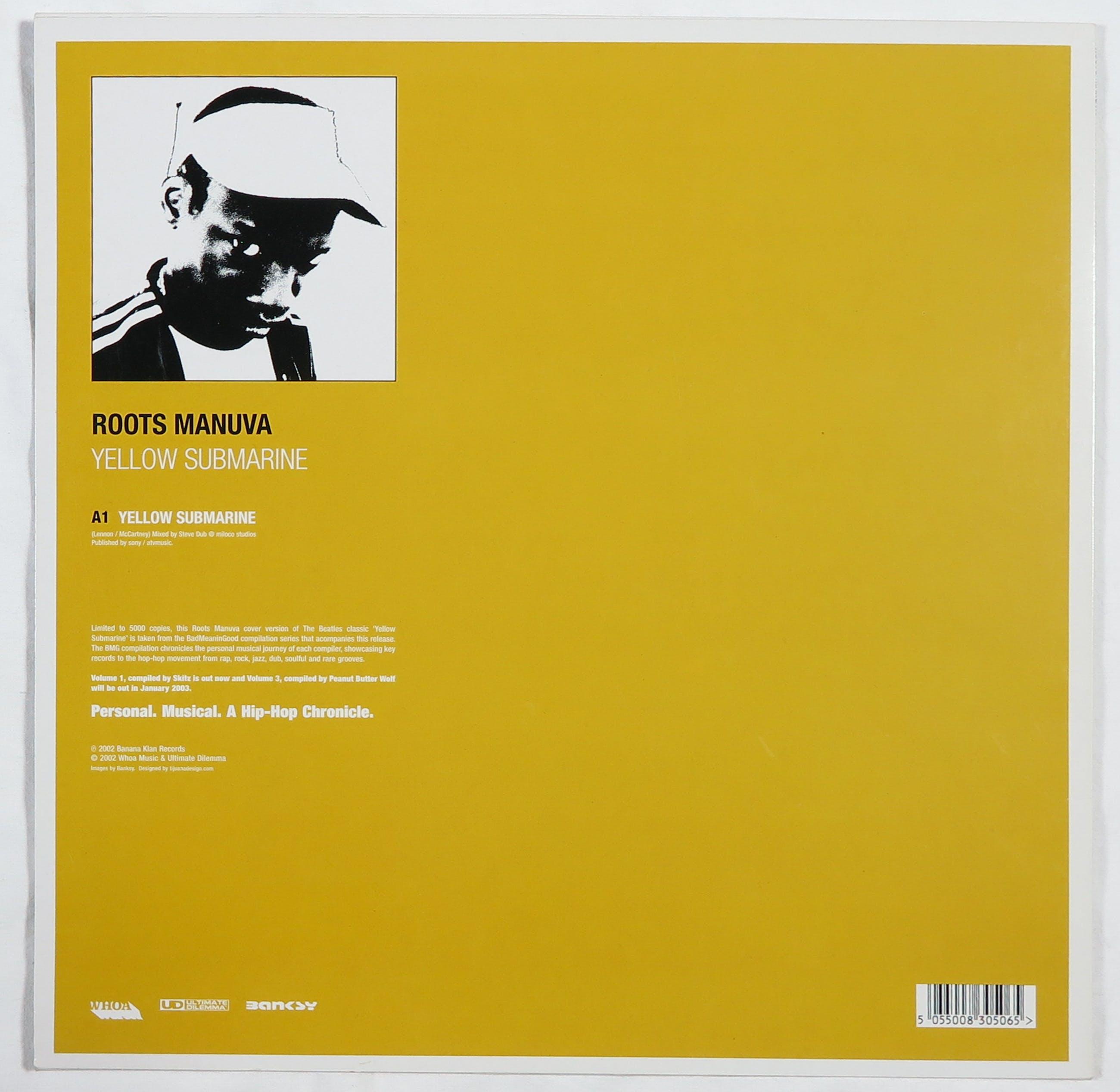 Banksy - LP-hoes, Roots Manuva: Yellow Submarine (van Badmeaningood vol. 2) kopen? Bied vanaf 1!