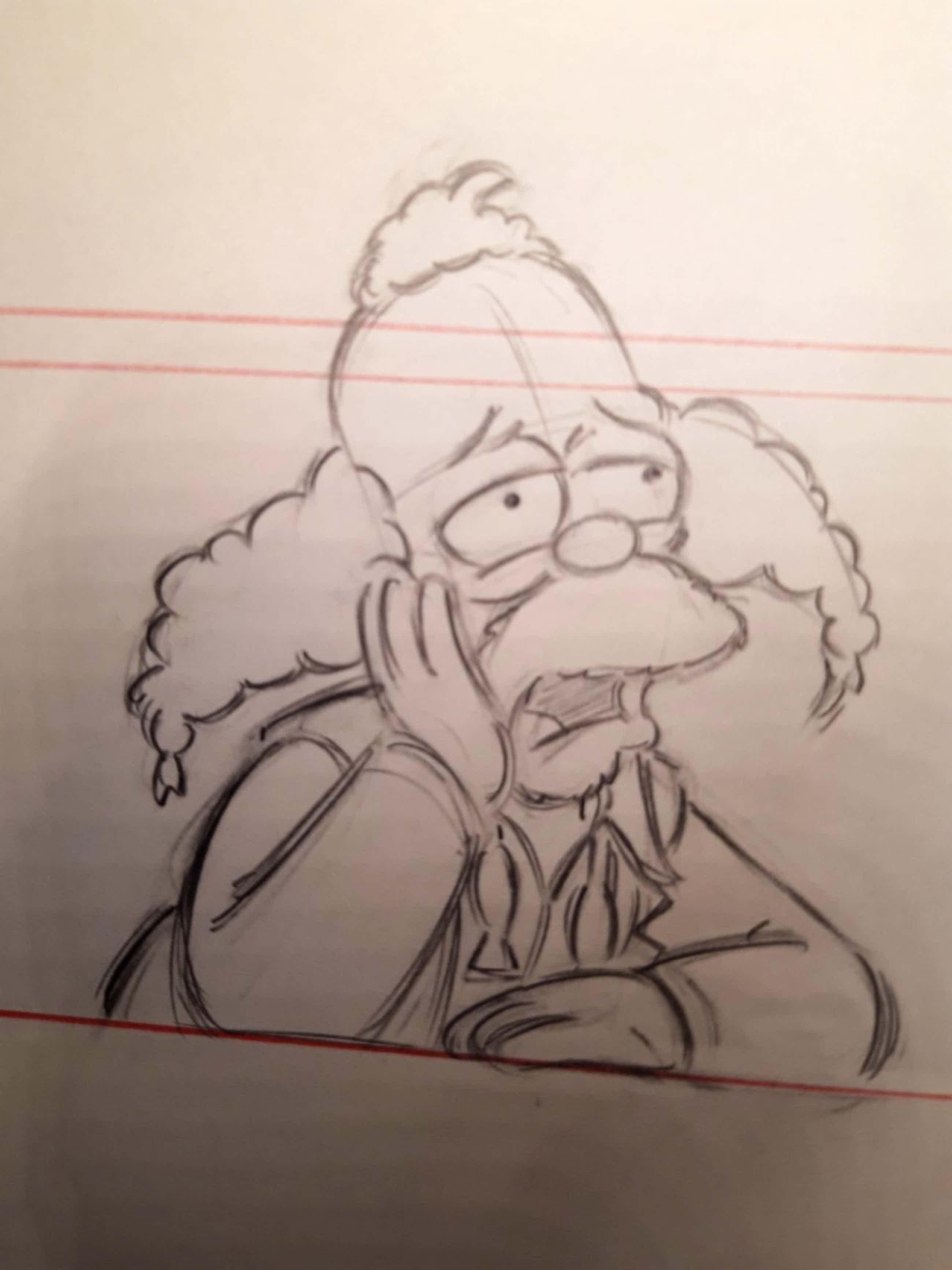 Matt Groening - originele productie tekening, The Simpsons, Krusty The Clown kopen? Bied vanaf 70!