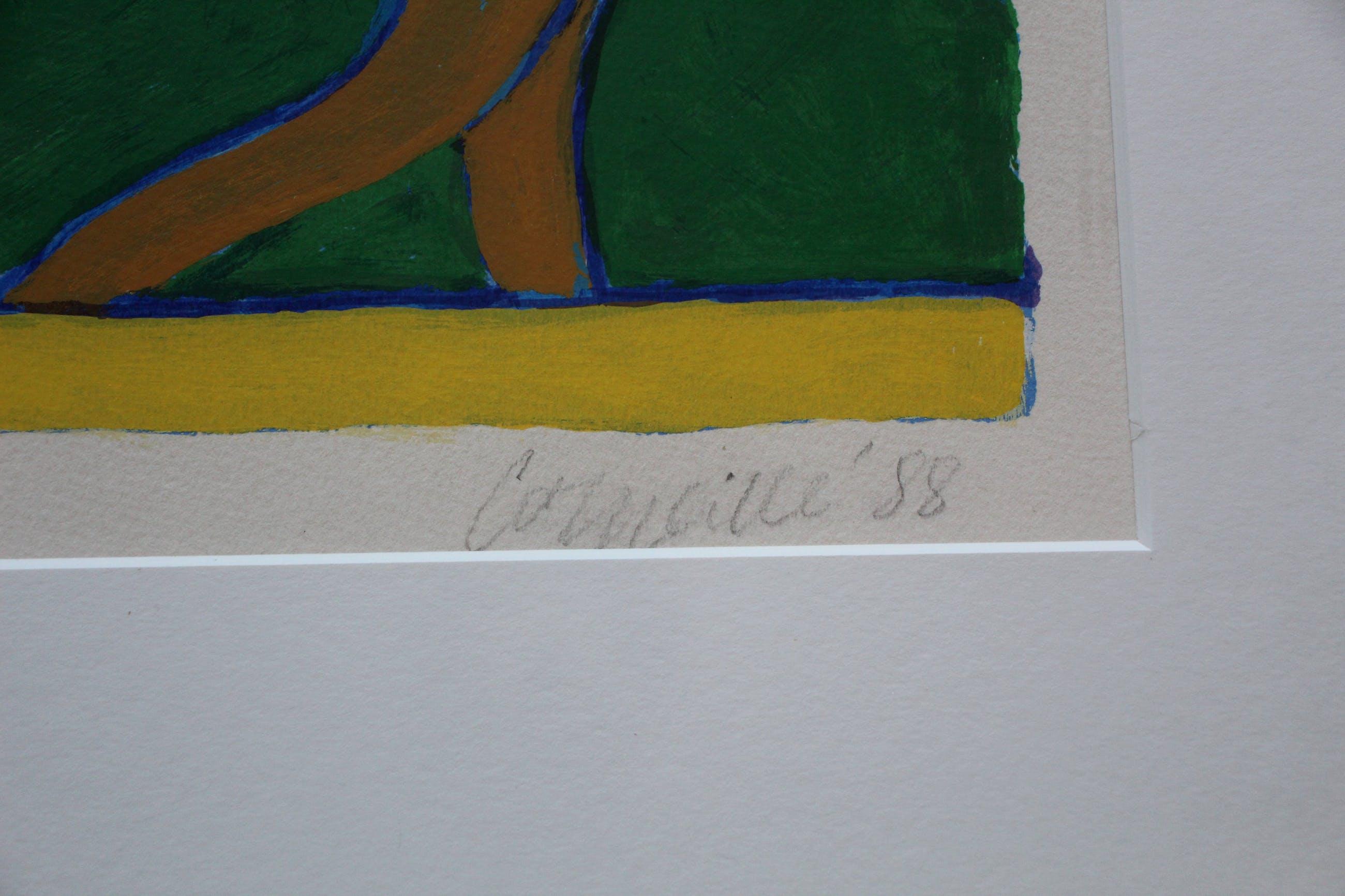 Corneille - zeefdruk: Enchantement du Printemps - 1988 (groot) kopen? Bied vanaf 795!