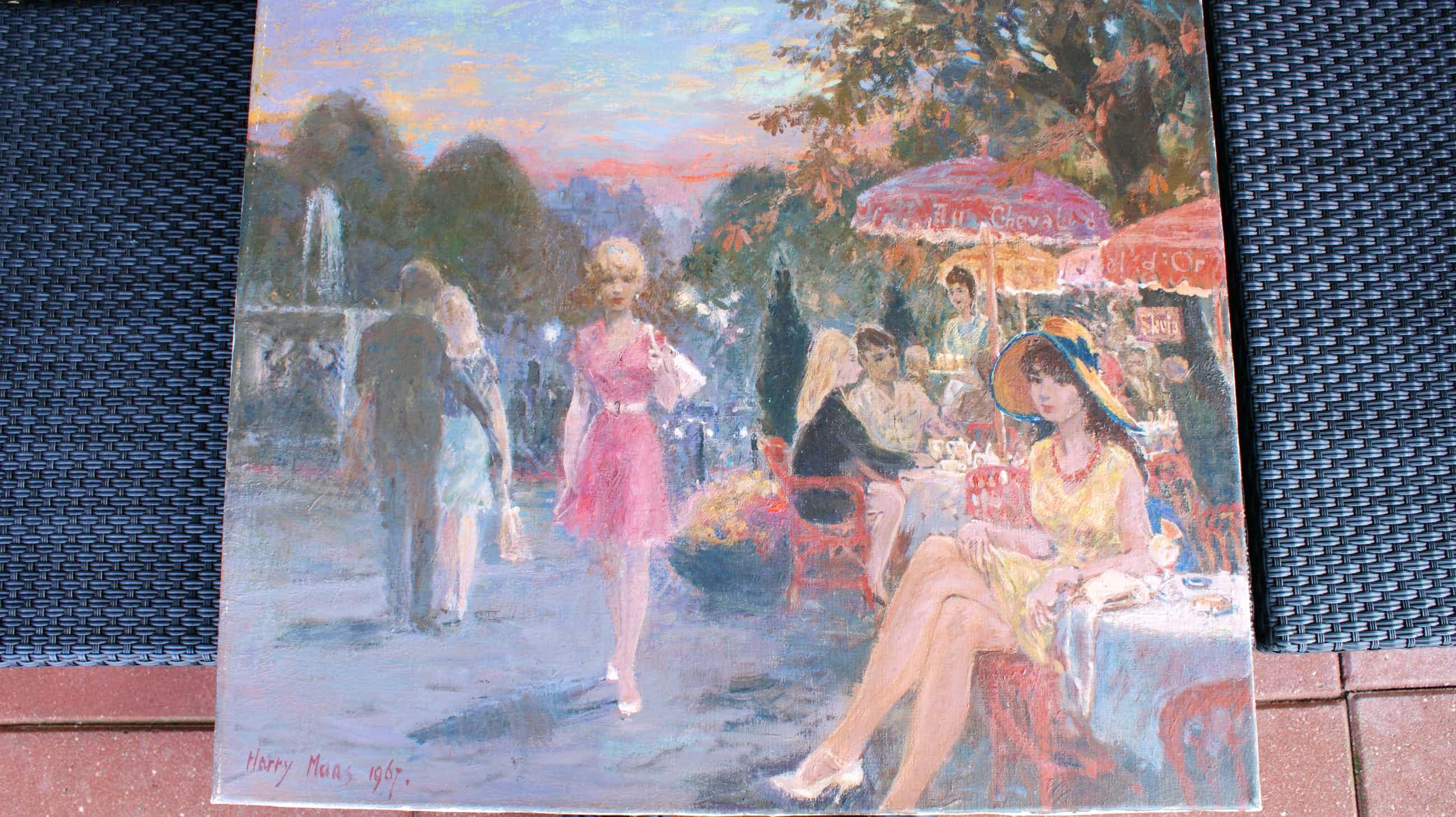Harry Maas - Terrasje op Montmartre kopen? Bied vanaf 1000!