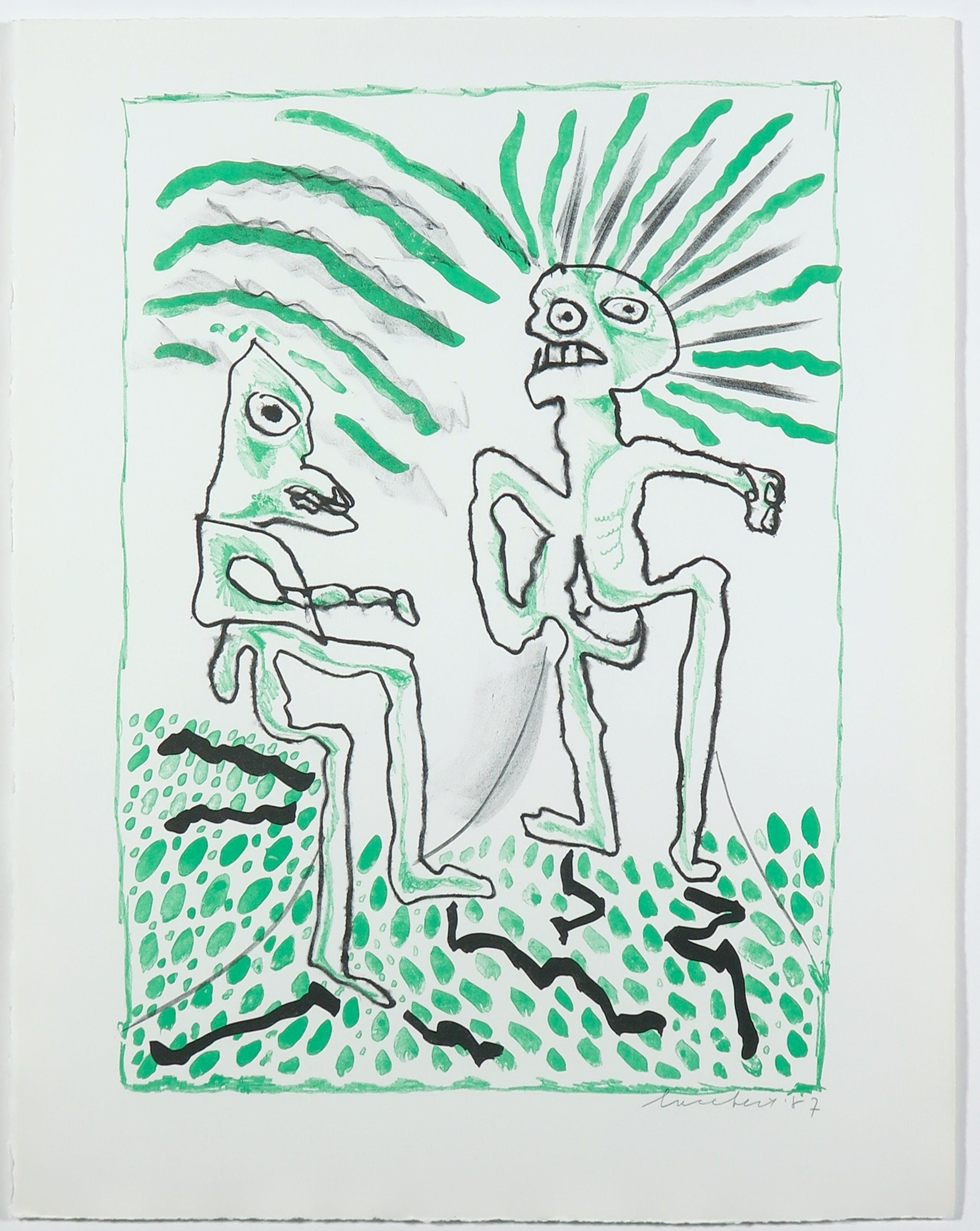Lucebert - Litho uit het portfolio Fantasia - Ingelijst kopen? Bied vanaf 150!