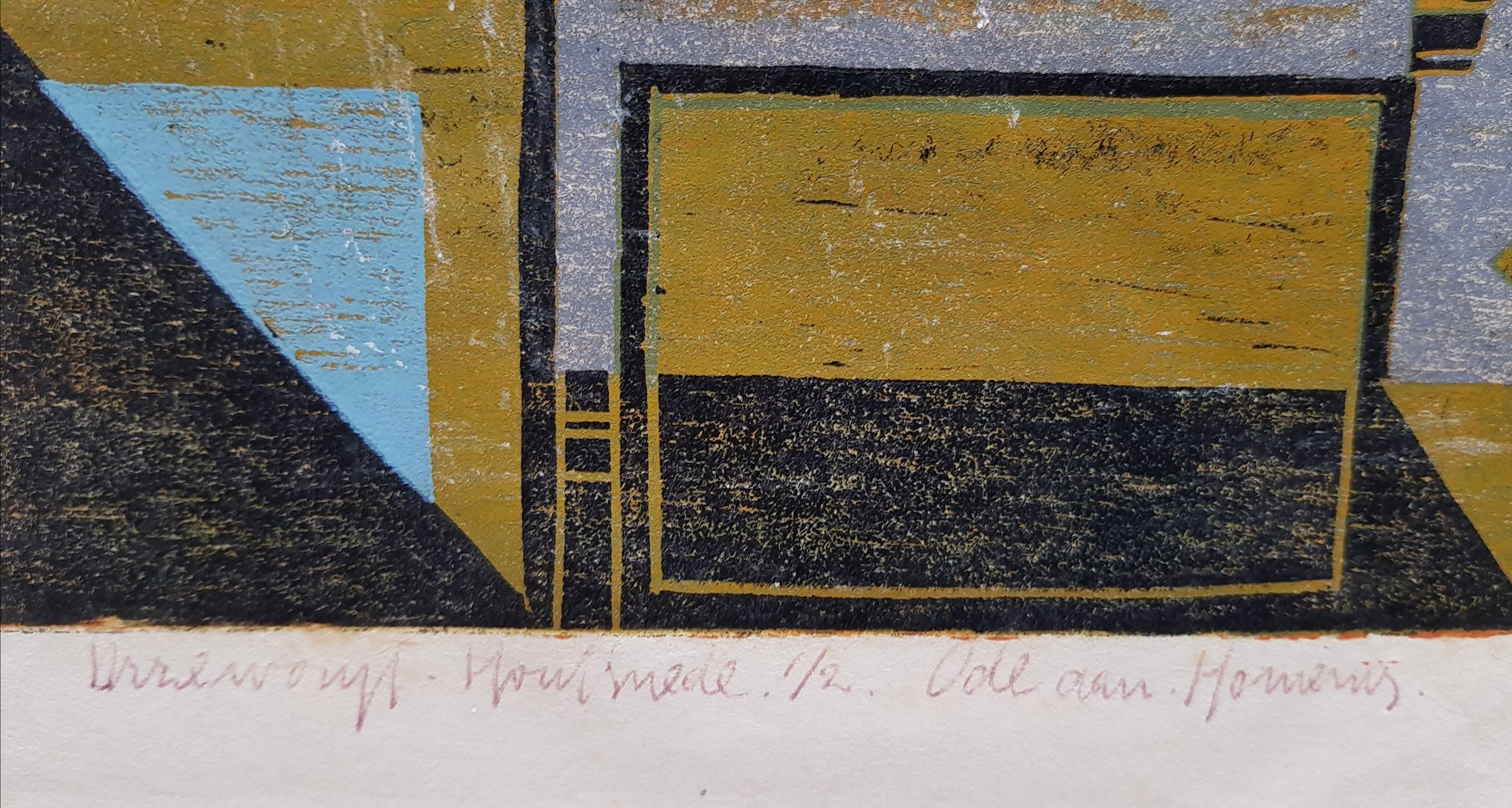 Niet of onleesbaar gesigneerd - Ode aan Homenius, houtsnede, 1965 kopen? Bied vanaf 1!
