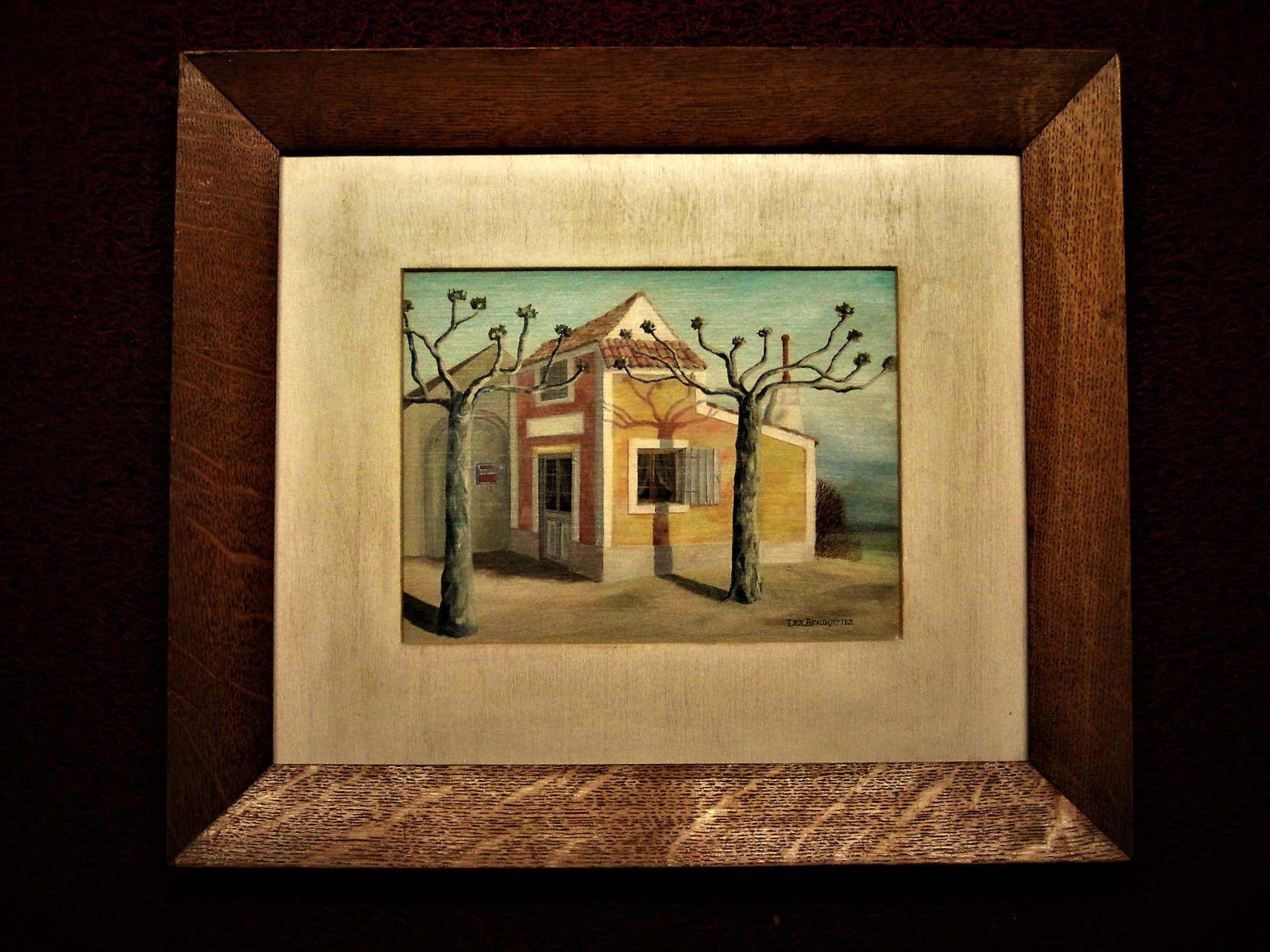 """Erna van Mondfrans - Fraai verstild realistisch olieverf """"Huis in de Provence Frankrijk"""" gesigneerd kopen? Bied vanaf 60!"""
