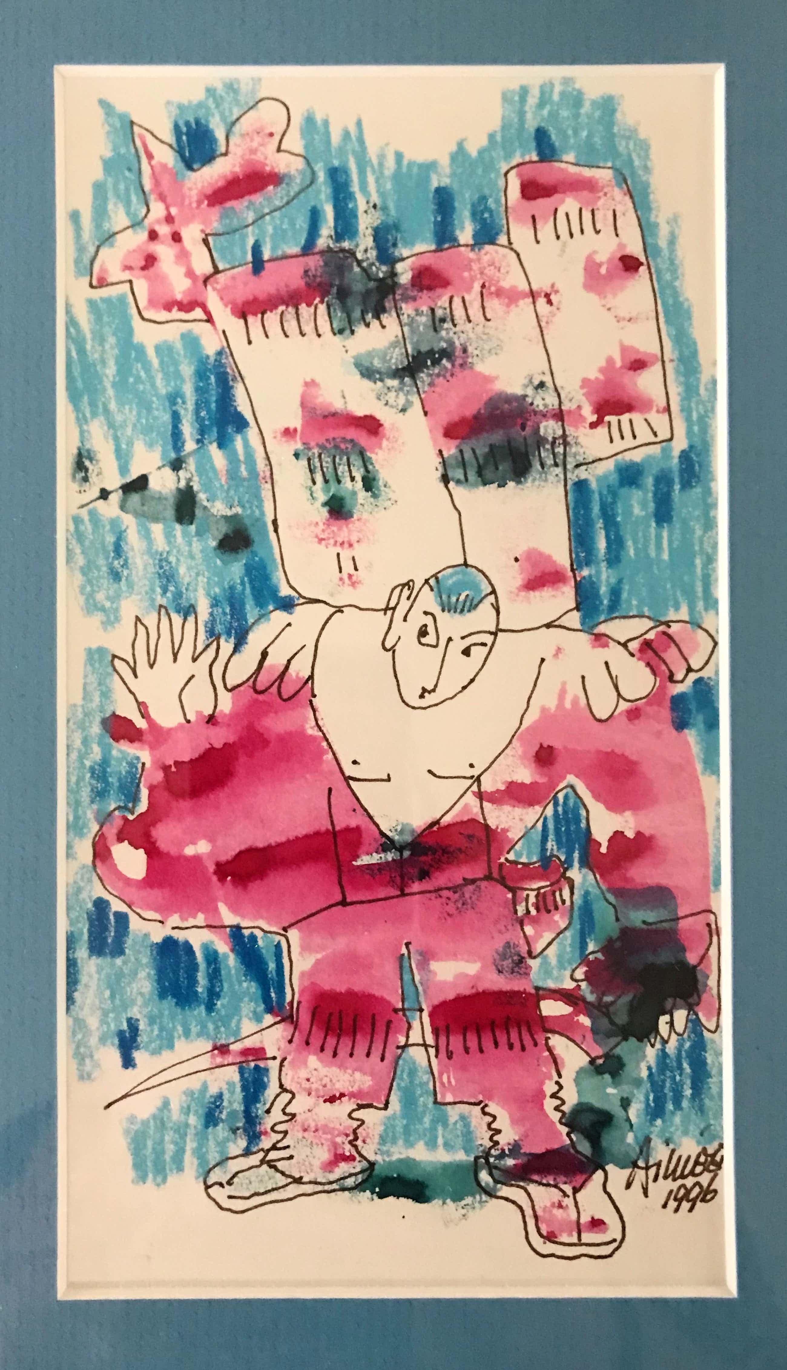 Aimee Crince le Roy - Originele krijt-inkttekening - Gesigneerd - 1996 kopen? Bied vanaf 55!