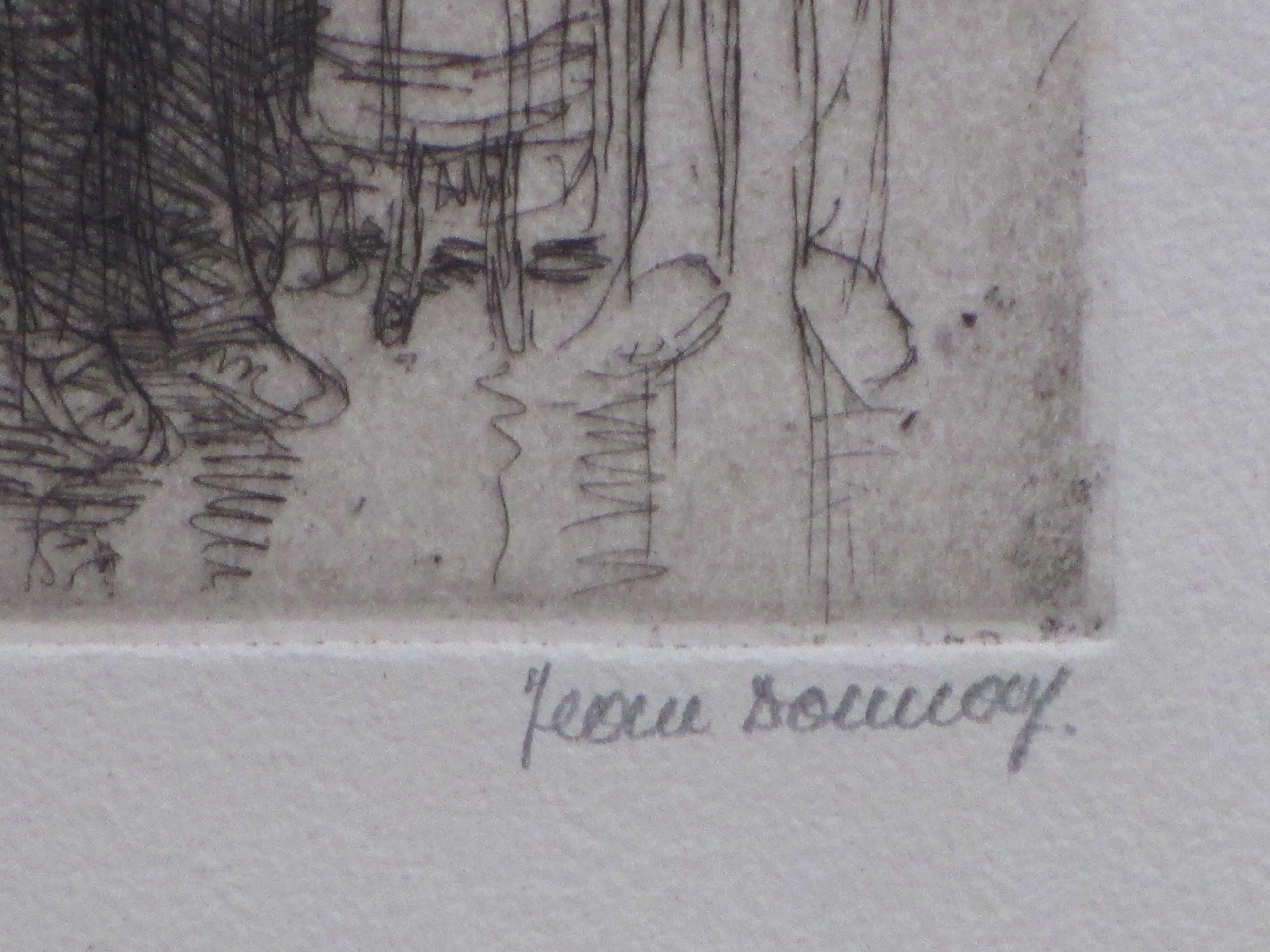 Jean Donnay - De straatzanger van Rouen - Ets kopen? Bied vanaf 60!