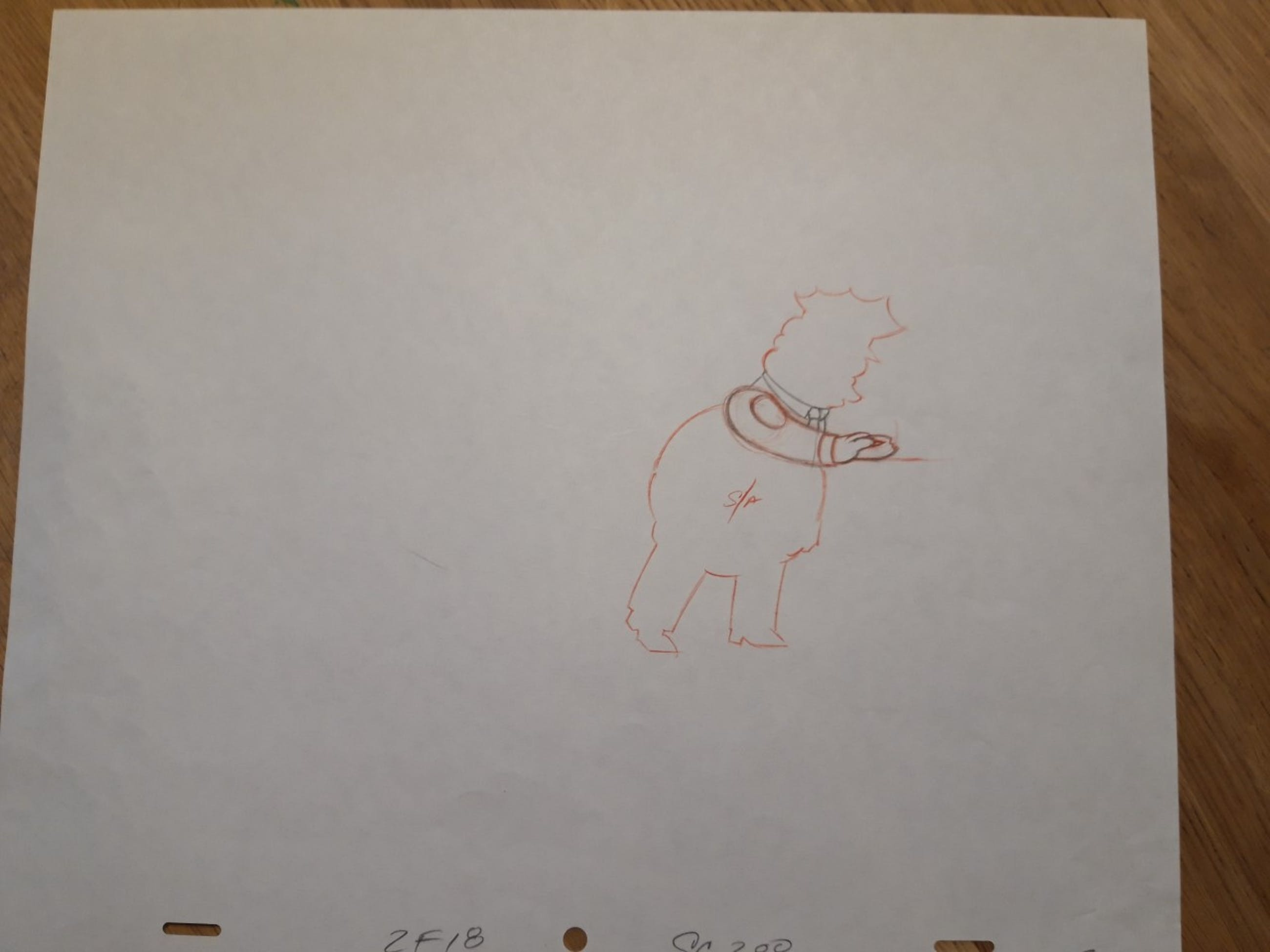 Matt Groening - lot van 2 originele productie tekeningen, The Simpsons, Chief Wiggum kopen? Bied vanaf 50!