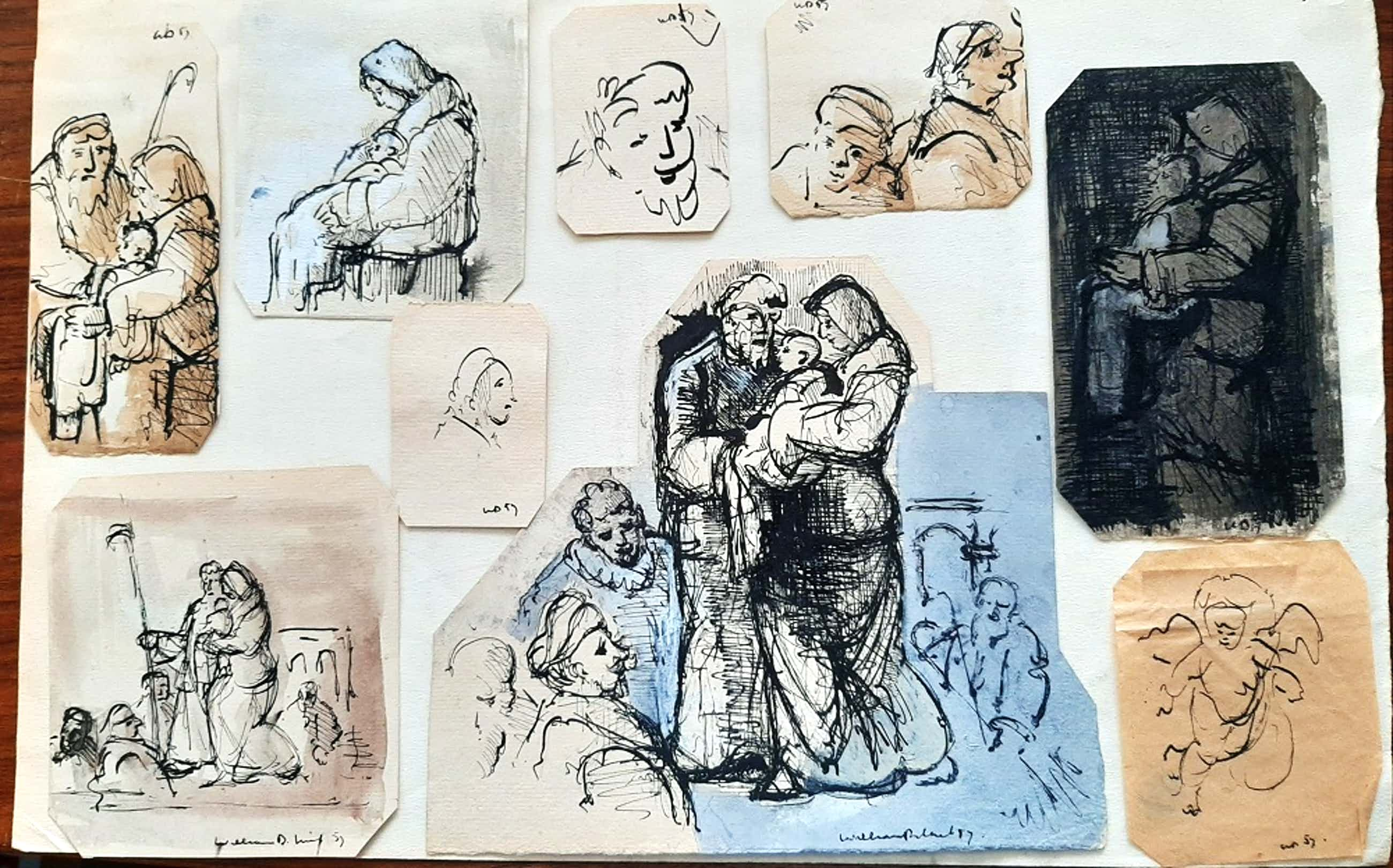 Dirkje Kuik - 9 losse tekeningen gemaakt voor boekillustratie kopen? Bied vanaf 35!