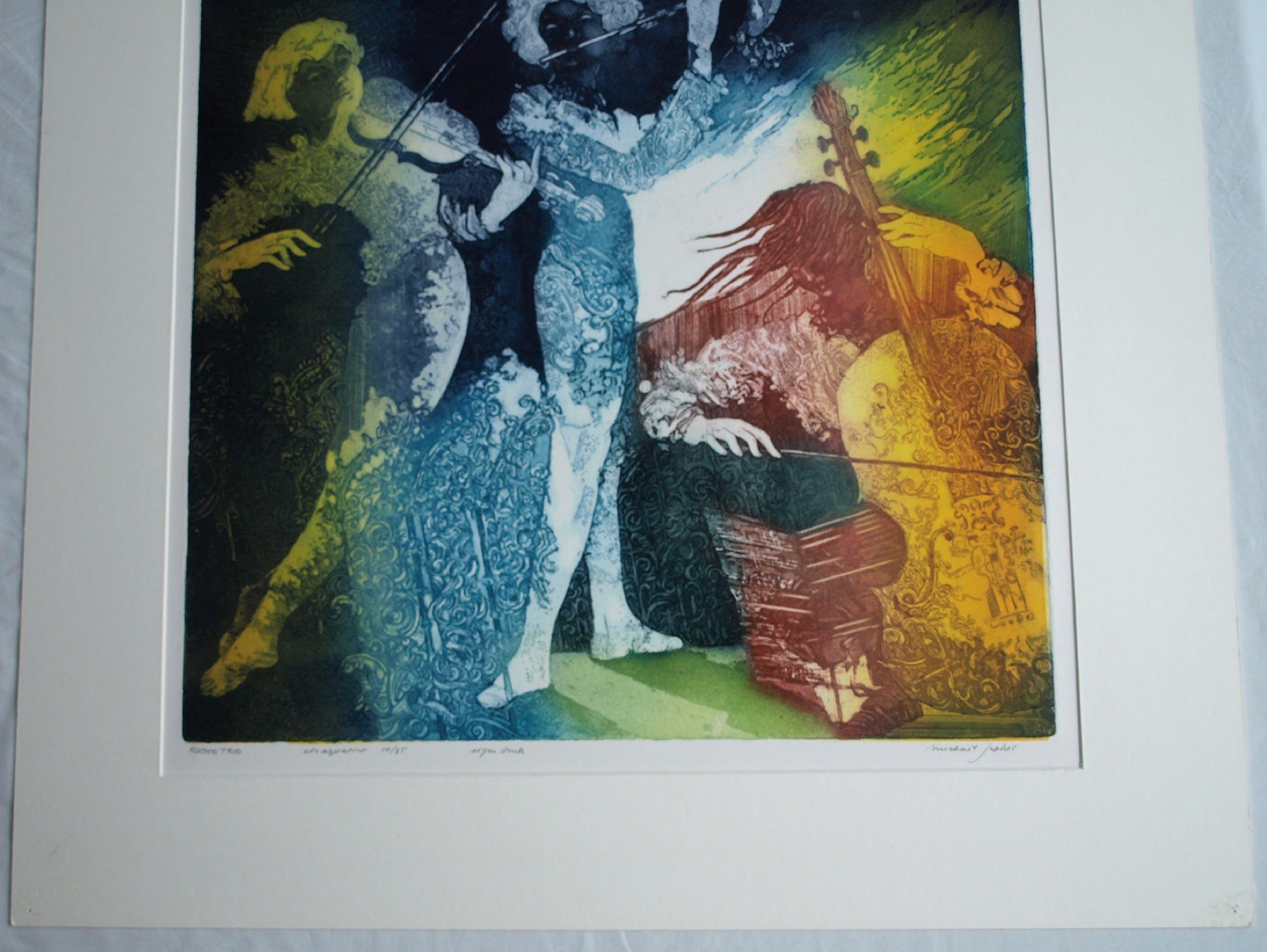 "Michael Jepkes - Ets en aquatint , ""Rococo Trio"" – oplage 35 kopen? Bied vanaf 35!"