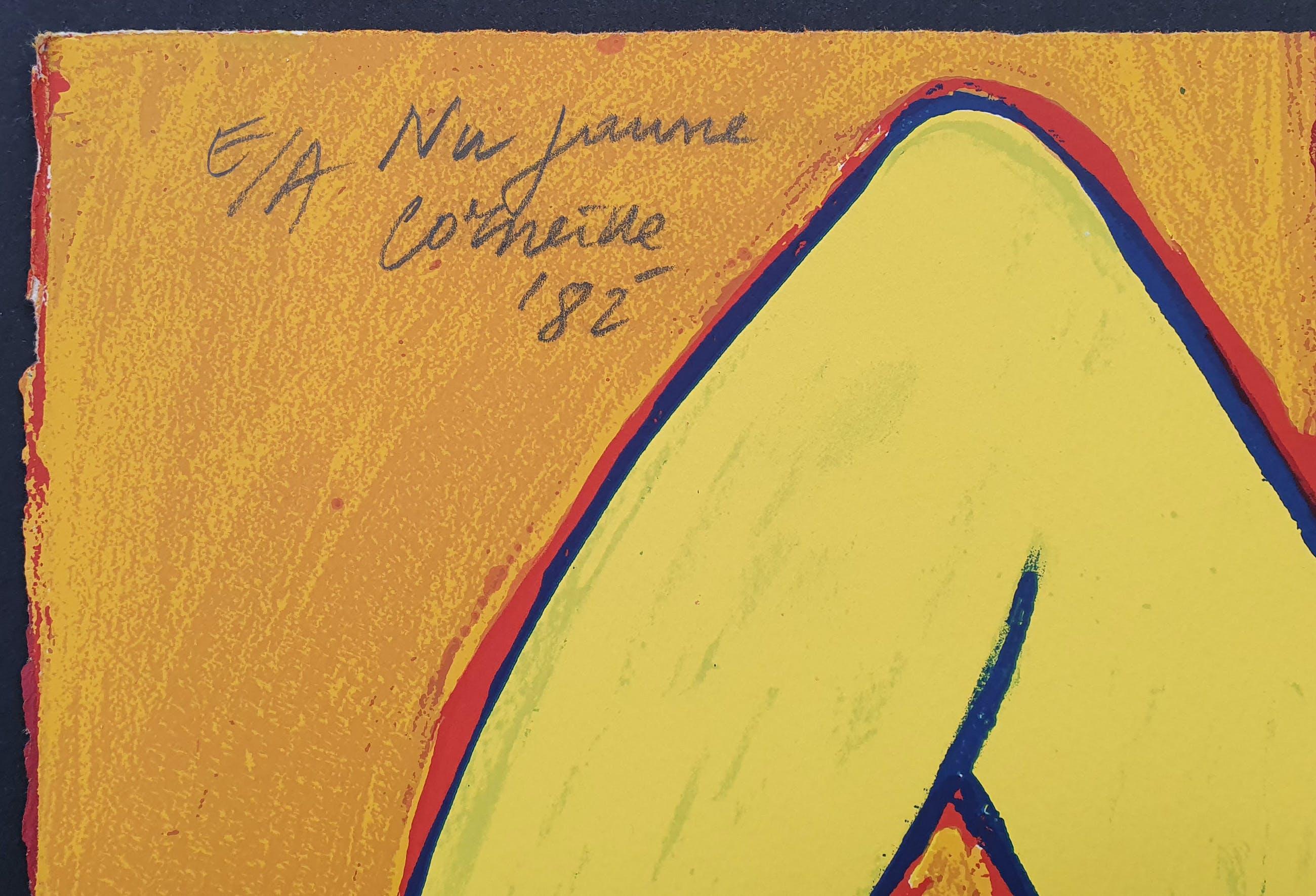 Corneille - 'Nu jaune (Natacha)' - Groot - Imposant ingelijst (nieuw) kopen? Bied vanaf 670!