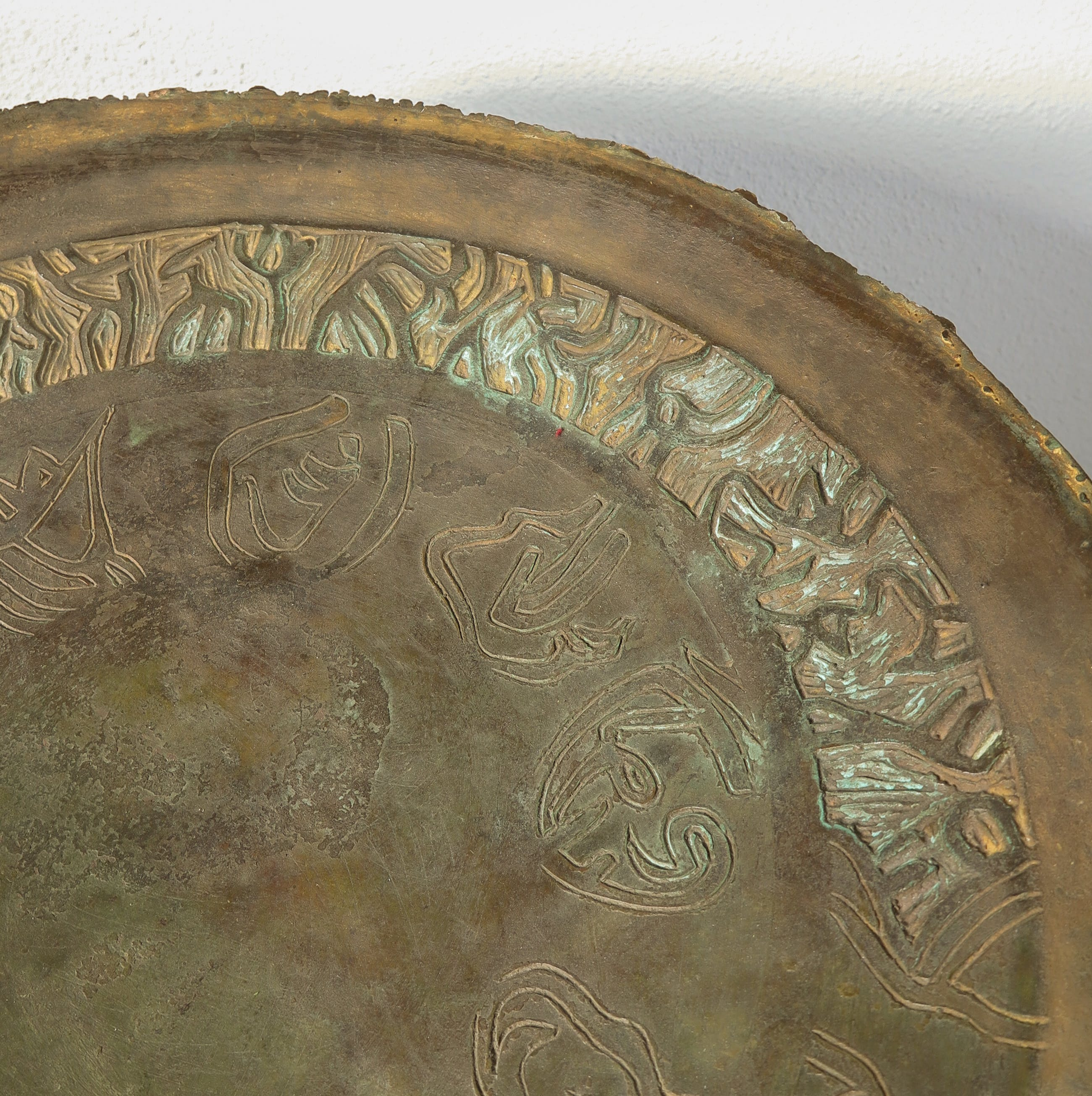 Loek Hambeukers - Grote bronzen schaal op houten sokkel kopen? Bied vanaf 350!