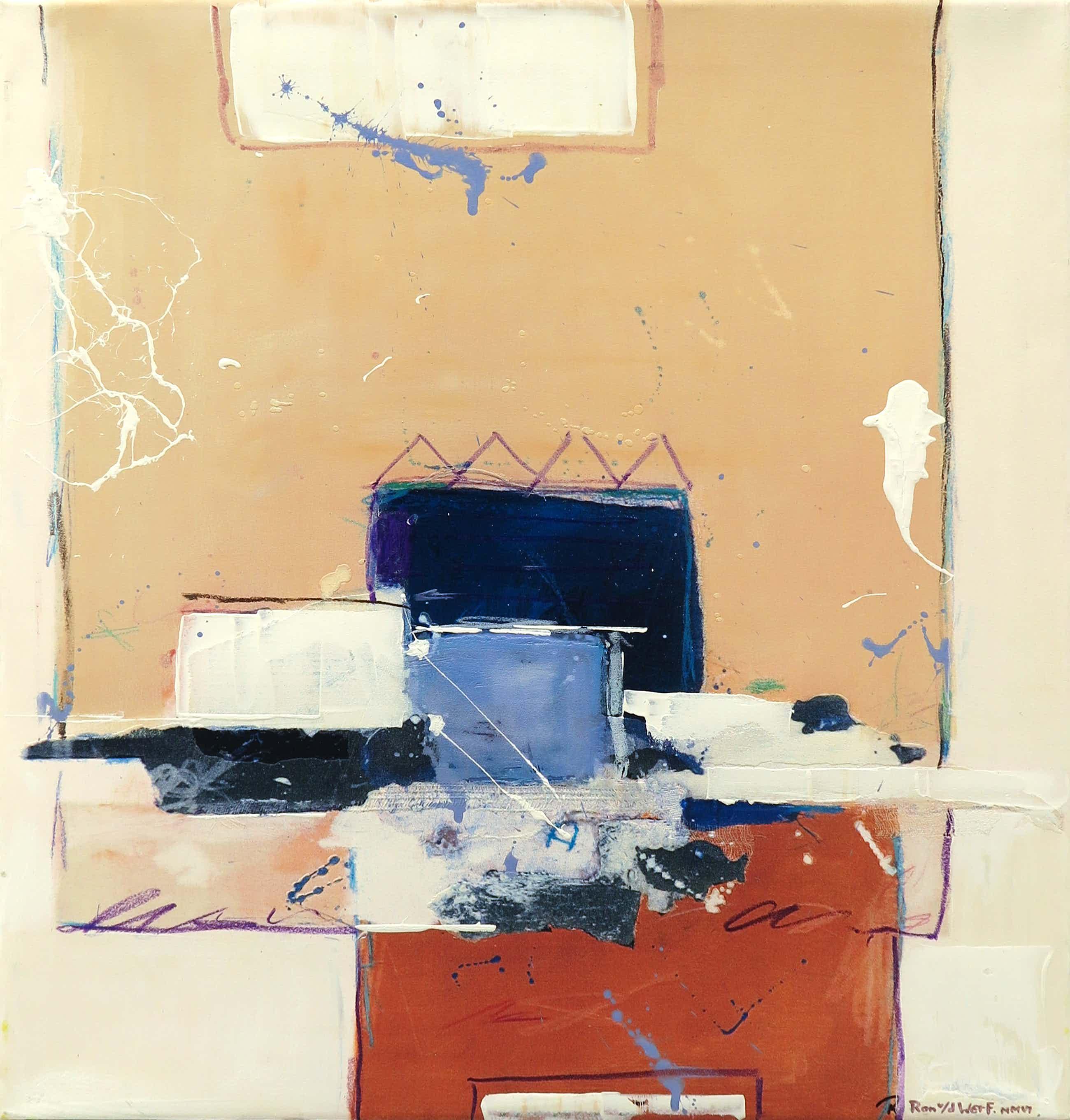 Ron van der Werf - Zeefdruk gelijmd op kunststof op doek, Zonder titel (met ophangsysteem) kopen? Bied vanaf 60!