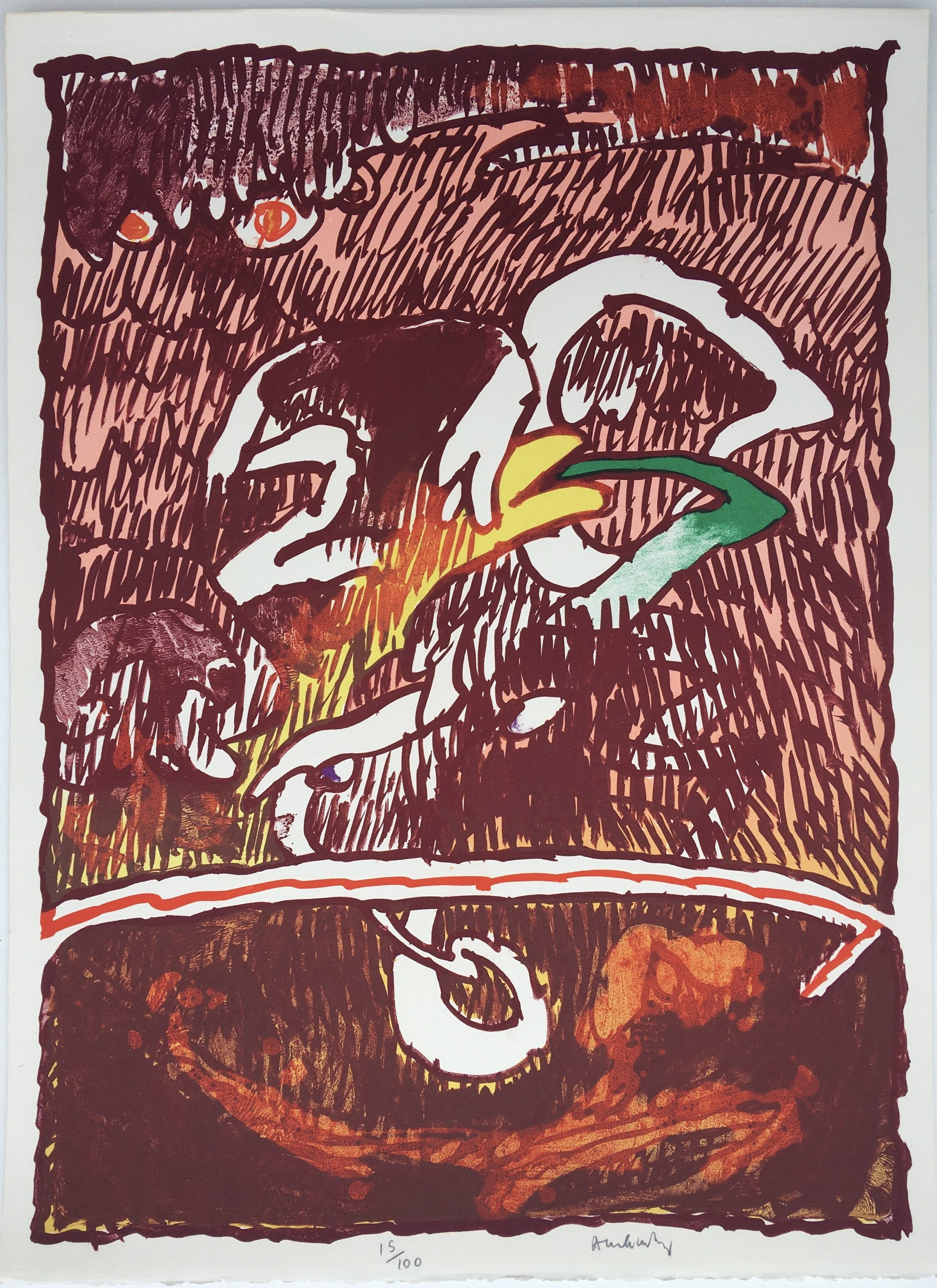 Pierre Alechinsky - litho 'Invisible Flying Objects' - 1978 kopen? Bied vanaf 750!