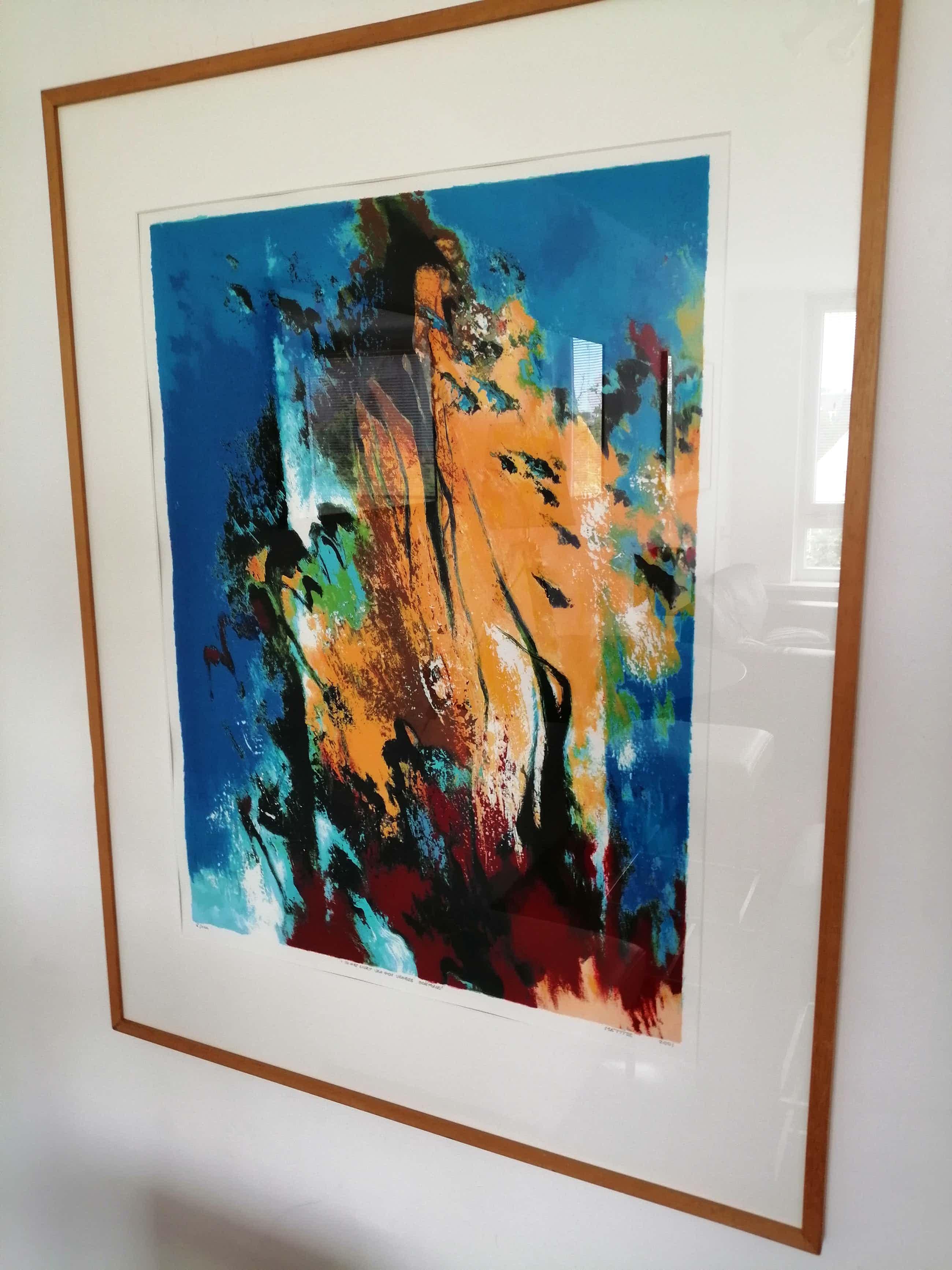 Mattie Schilders - Prachtige kleurrijke grote zeefdruk kopen? Bied vanaf 75!