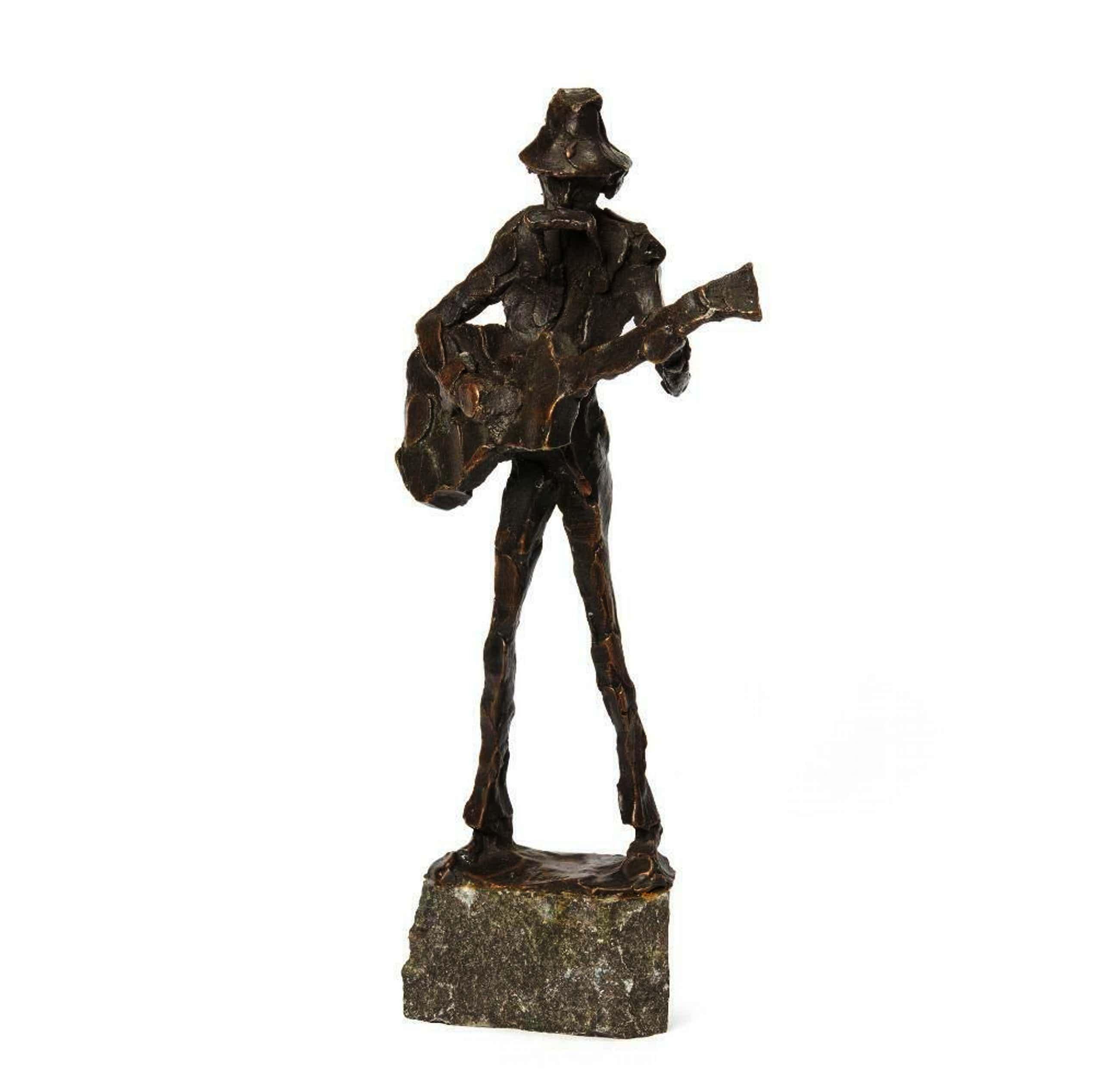 """Jits Bakker - """"Dylan"""" - brons op natuurstenen sokkel kopen? Bied vanaf 720!"""
