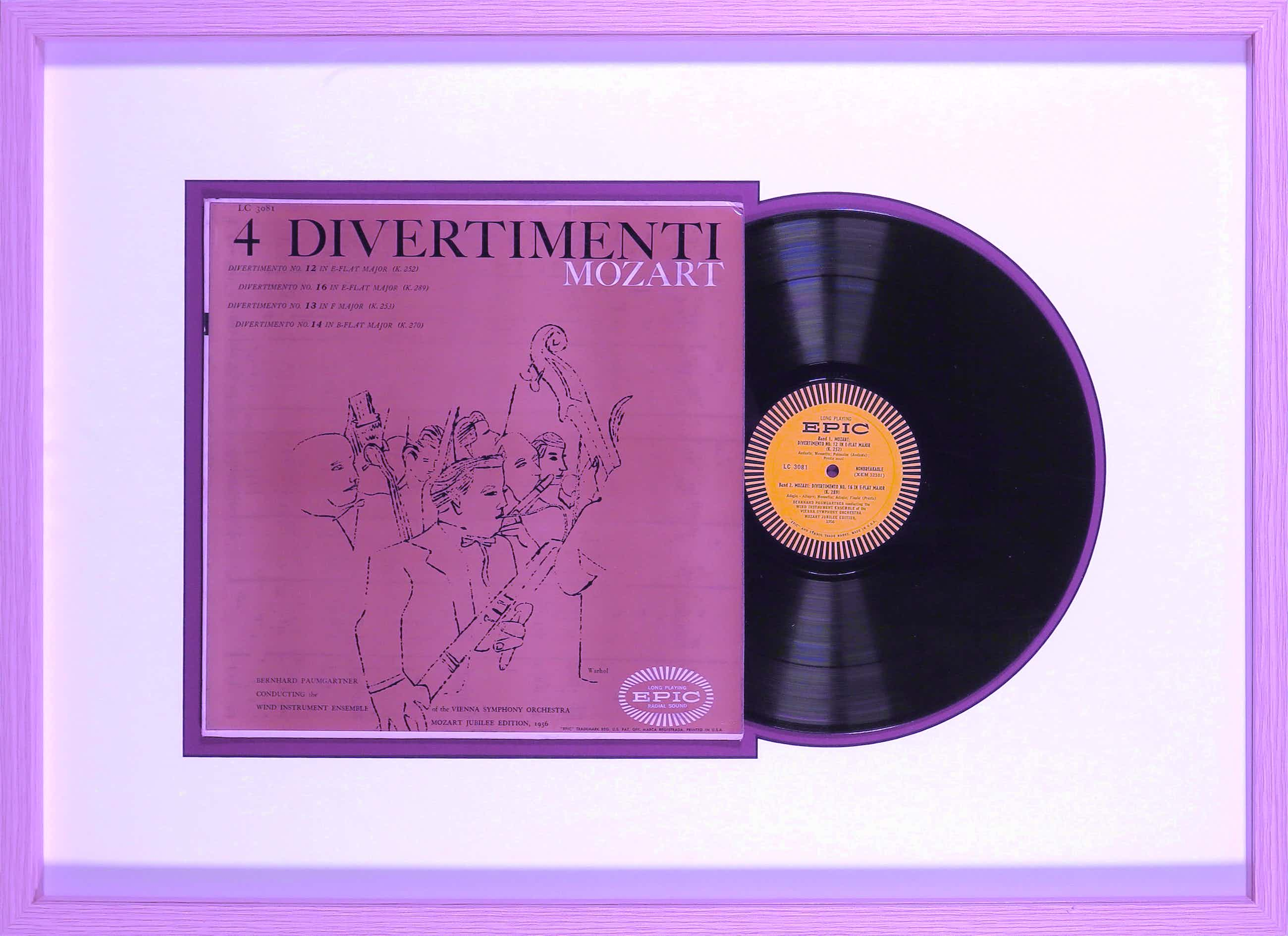 Andy Warhol - 4 Divertimenti Mozart Jubilee Edition - Vienna Symphony Orchestra - Ingelijst kopen? Bied vanaf 272!
