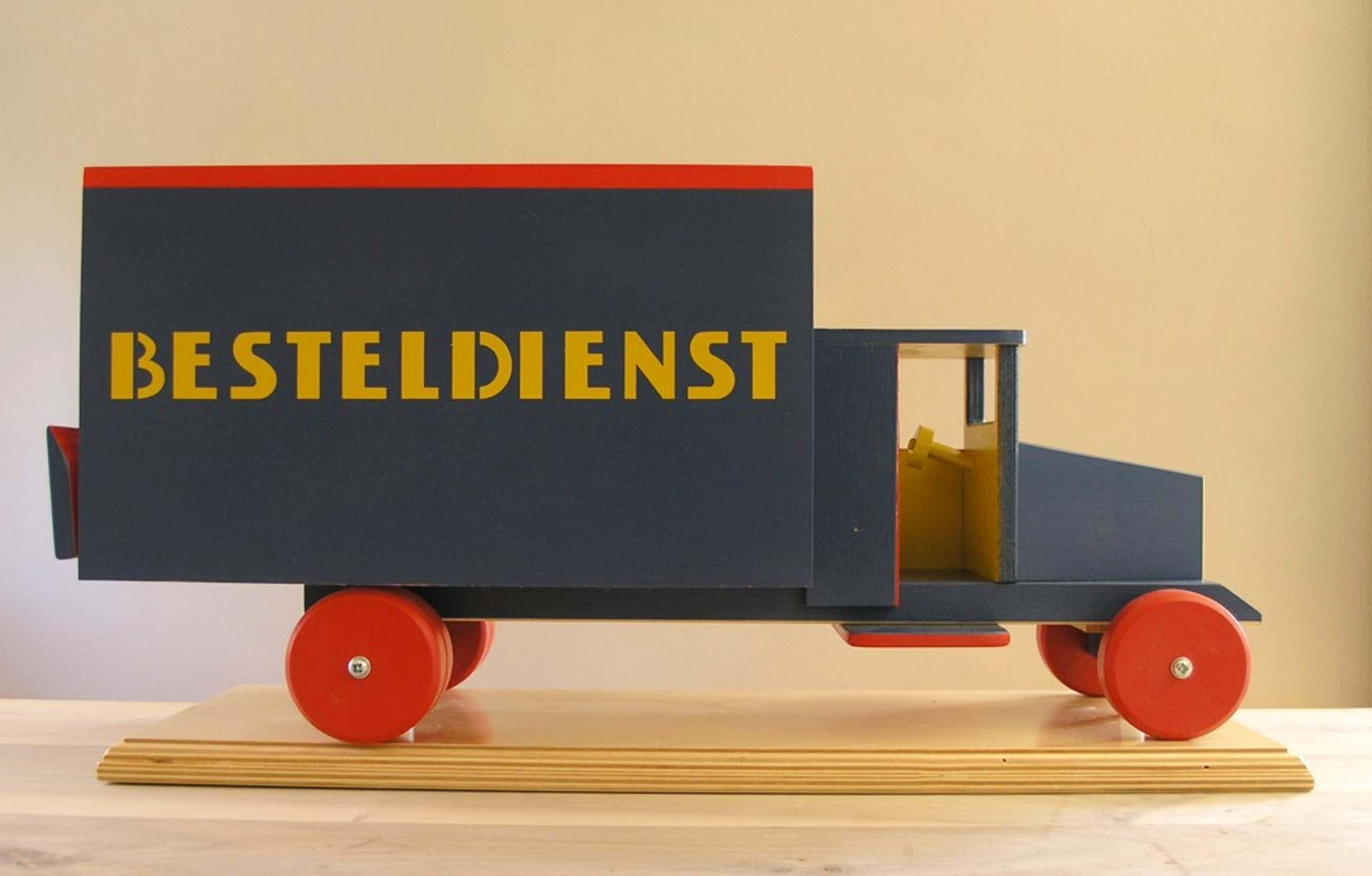 ADO - de Stijl, Ko Verzuu #BESTELDIENST, 50 cm.# Hout /Wooden toy, ltd ed. 250, kopen? Bied vanaf 80!