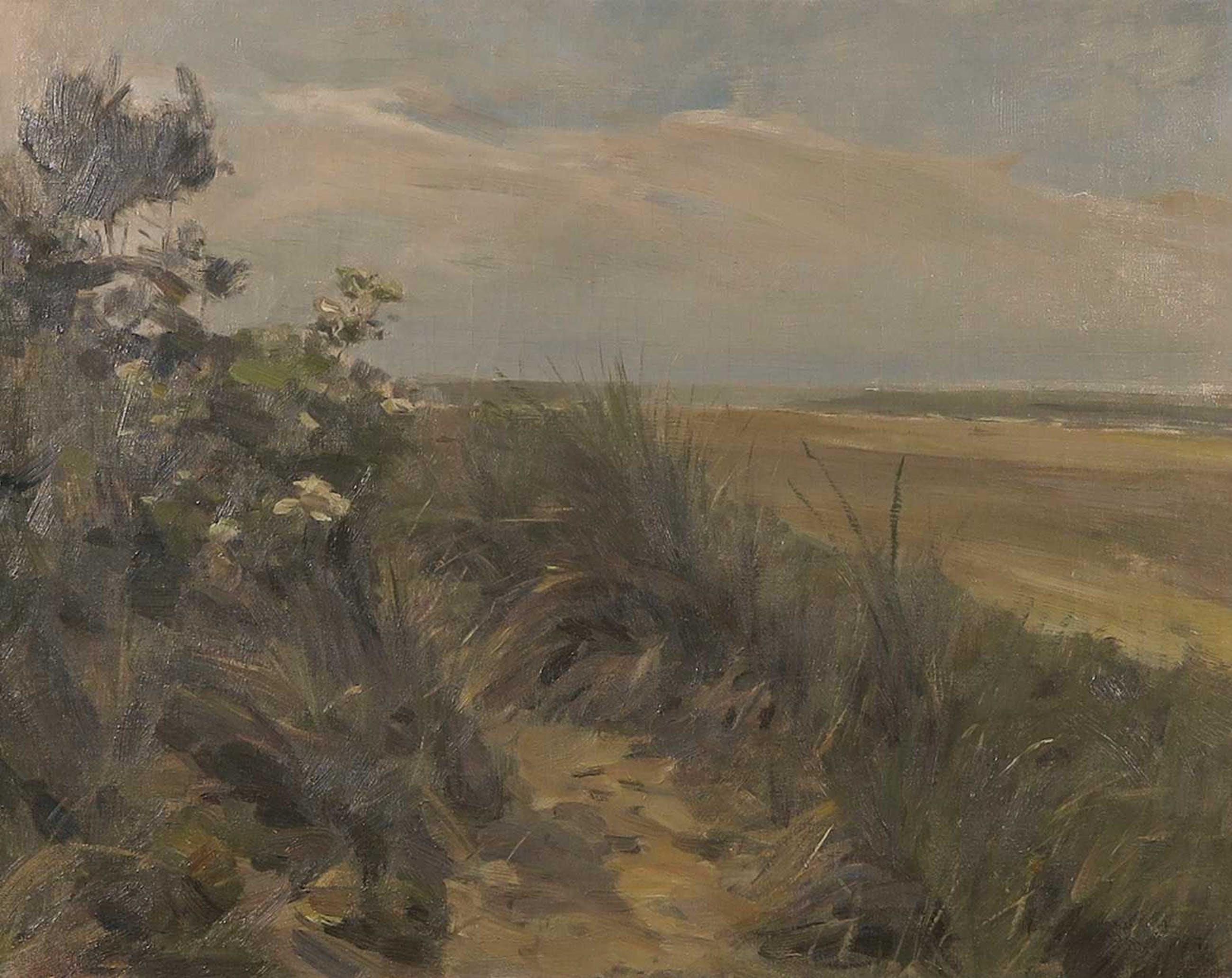 Anton Mauve (jr.) - Olieverf op doek, Duinlandschap Texel - Ingelijst kopen? Bied vanaf 150!