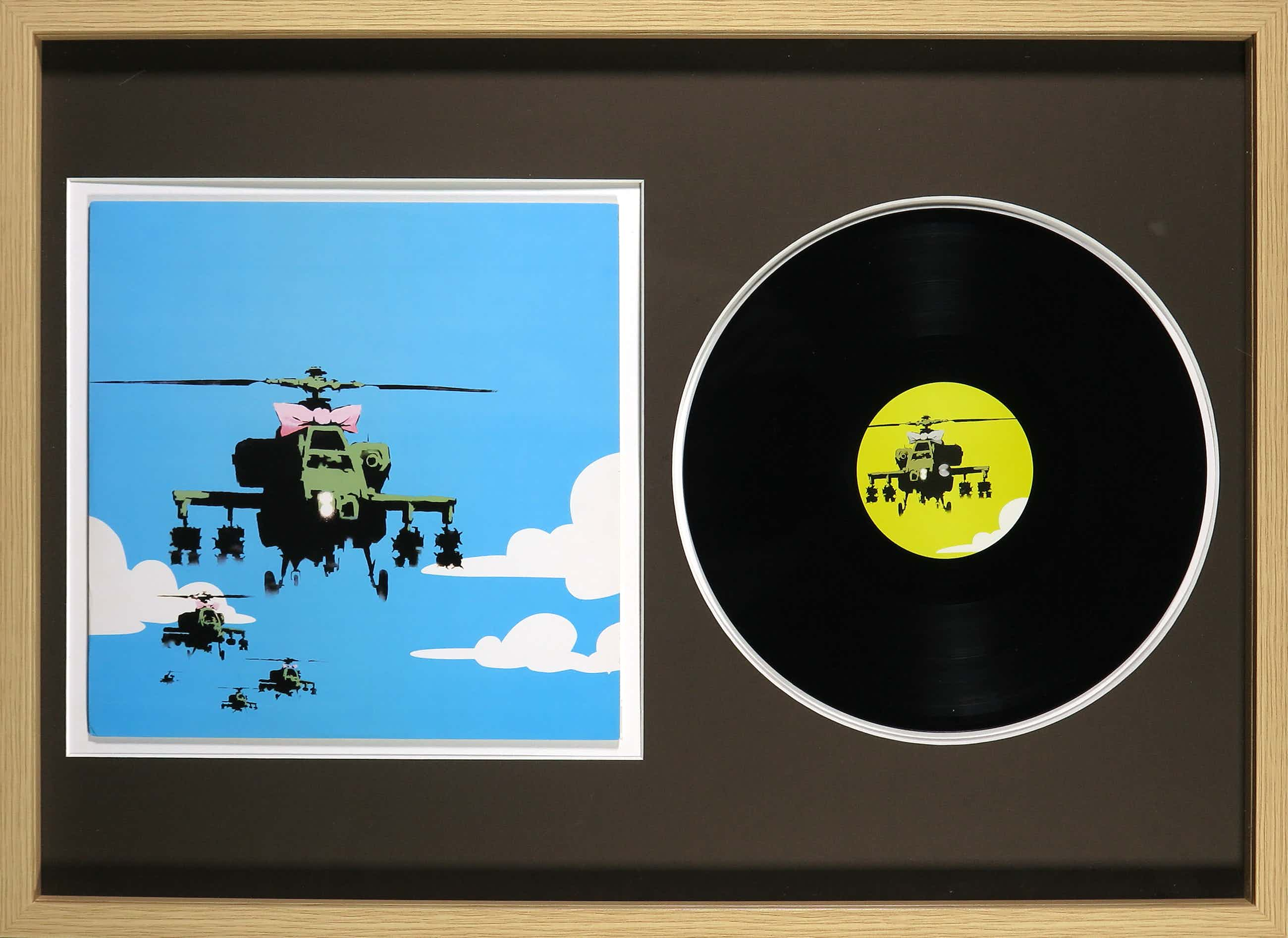 Banksy - Dirty Funker - Flat Beat - Ingelijst kopen? Bied vanaf 1100!
