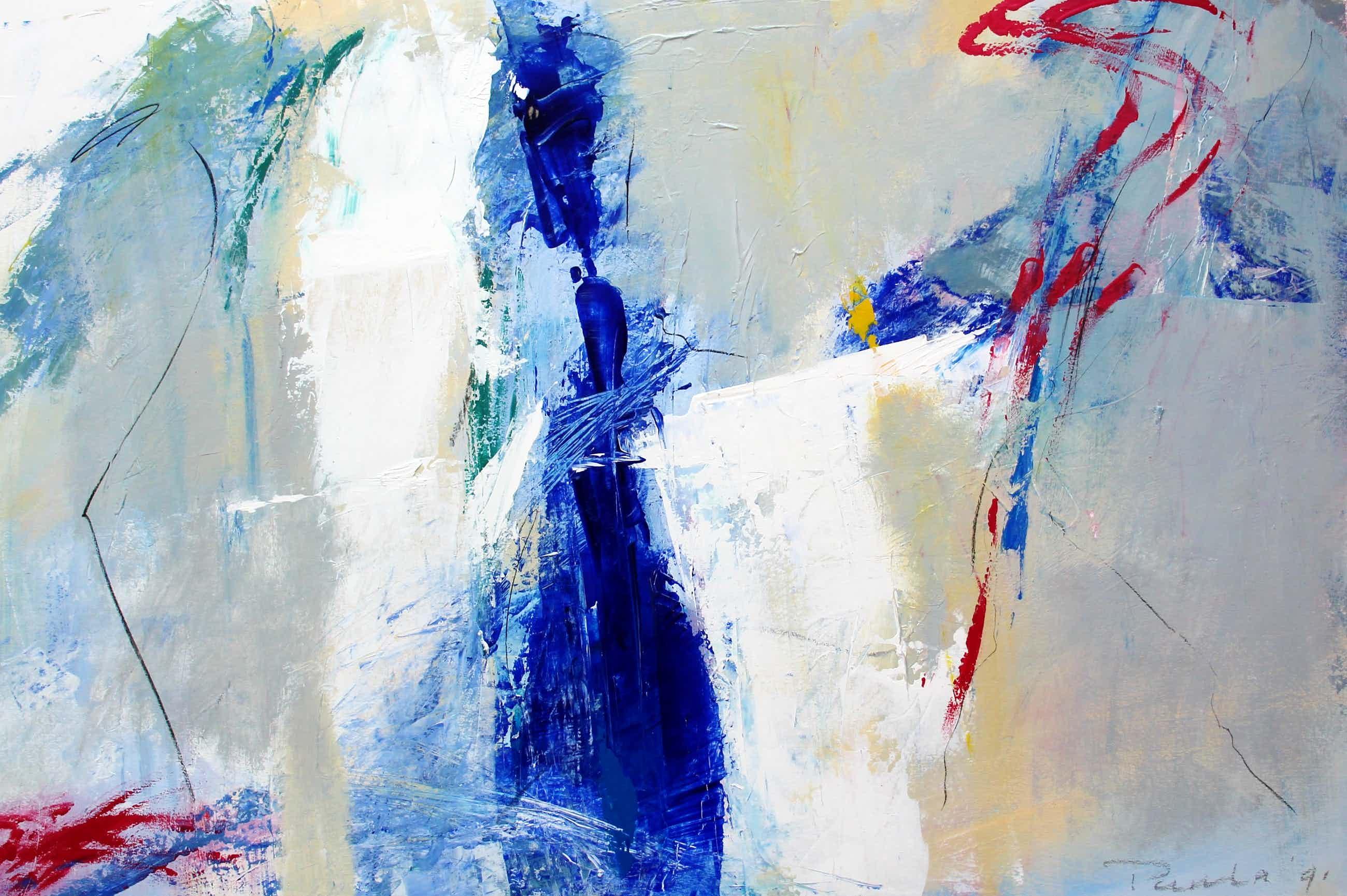 Paula Evers - Schilderij: acryl op papier - 1991 kopen? Bied vanaf 99!