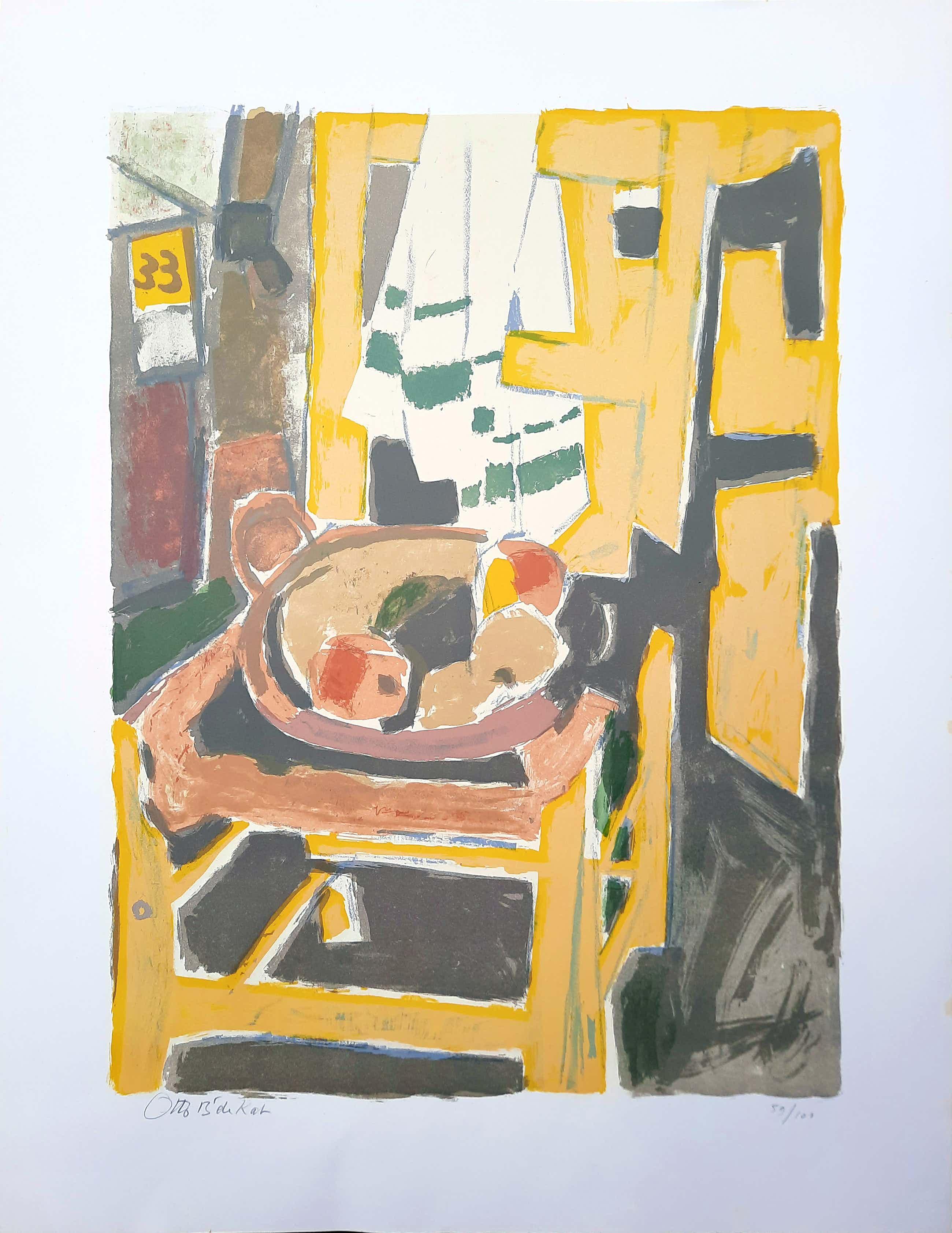 Otto B. de Kat - steendruk - Het gele stoeltje 59/101 - 21527 kopen? Bied vanaf 150!