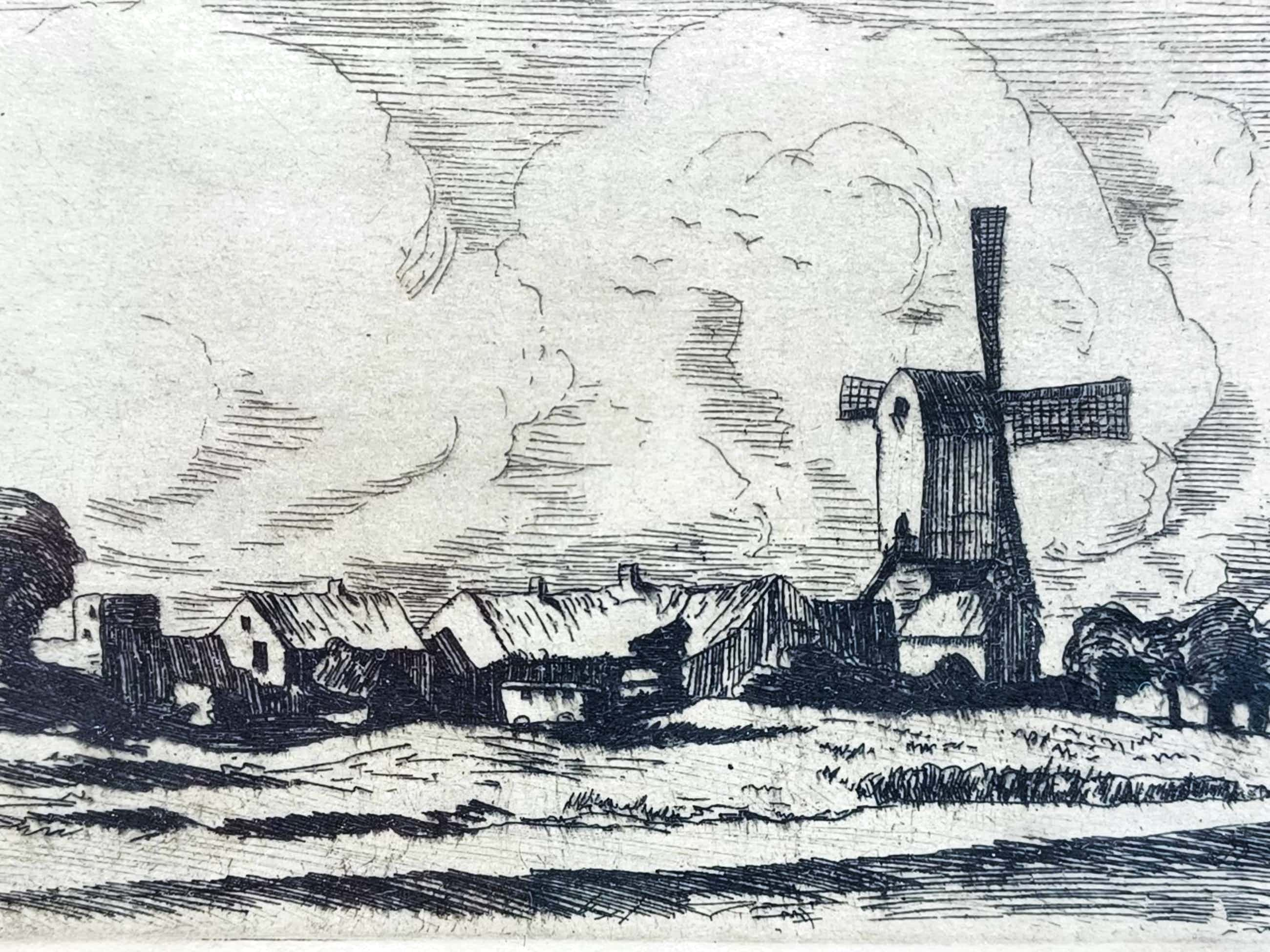Hendrik de Laat - Dorp met molen. kopen? Bied vanaf 45!