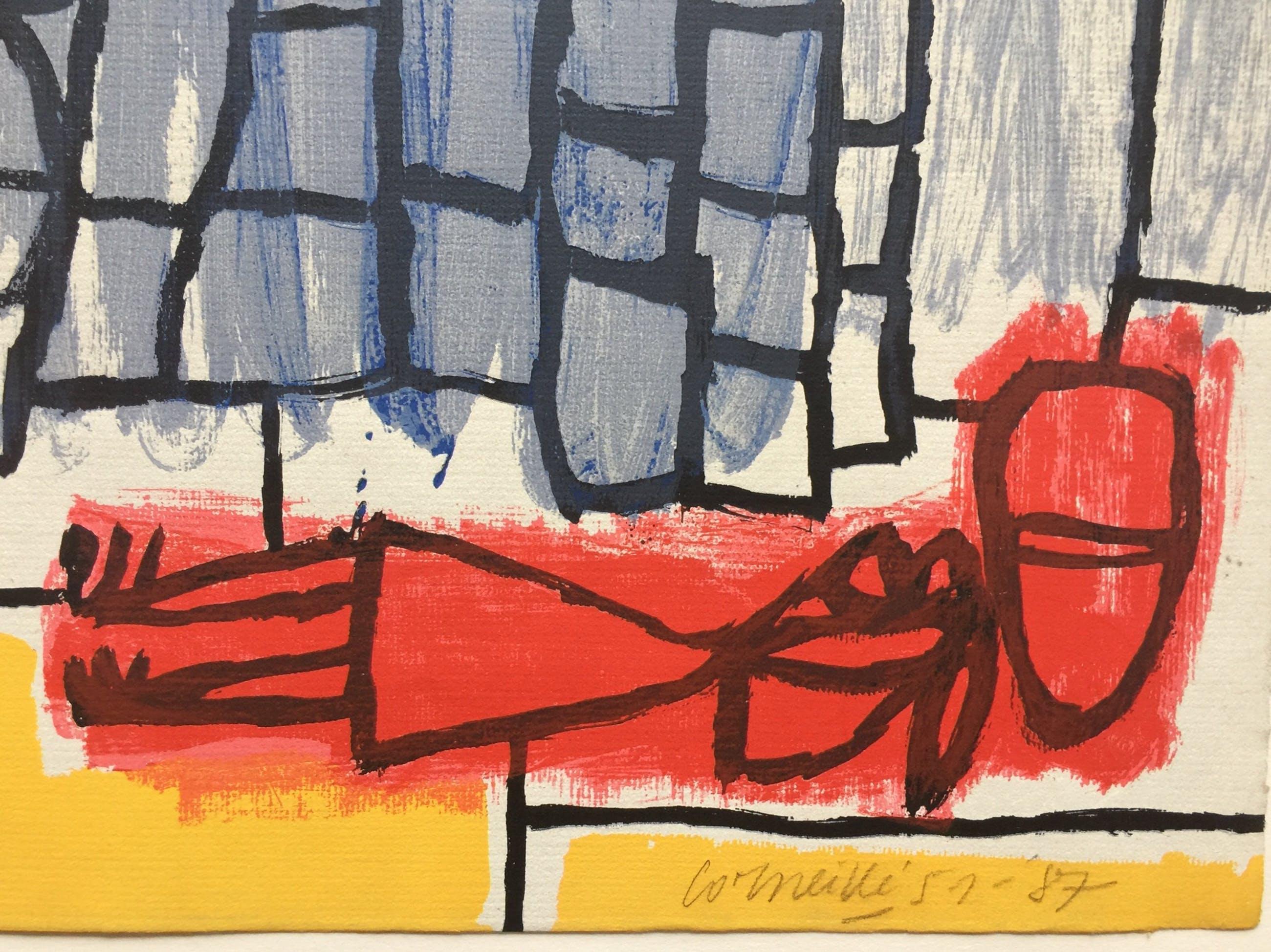 Corneille - zeefdruk in CoBrA-stijl - 1951/1987 kopen? Bied vanaf 265!