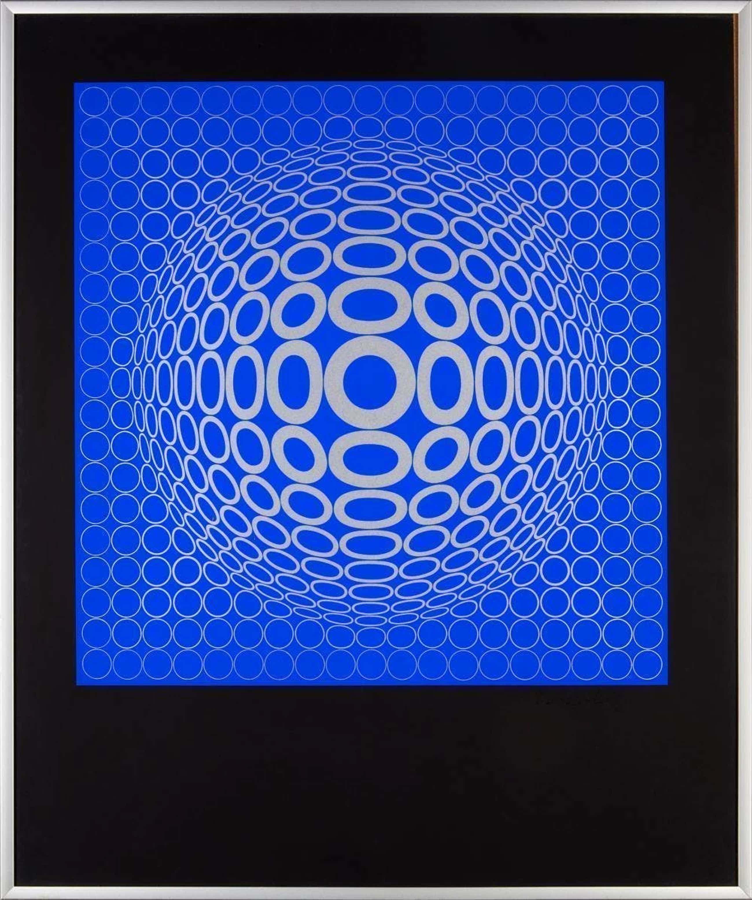 Victor Vasarely - 'Tuz' Composition en bleu kopen? Bied vanaf 675!