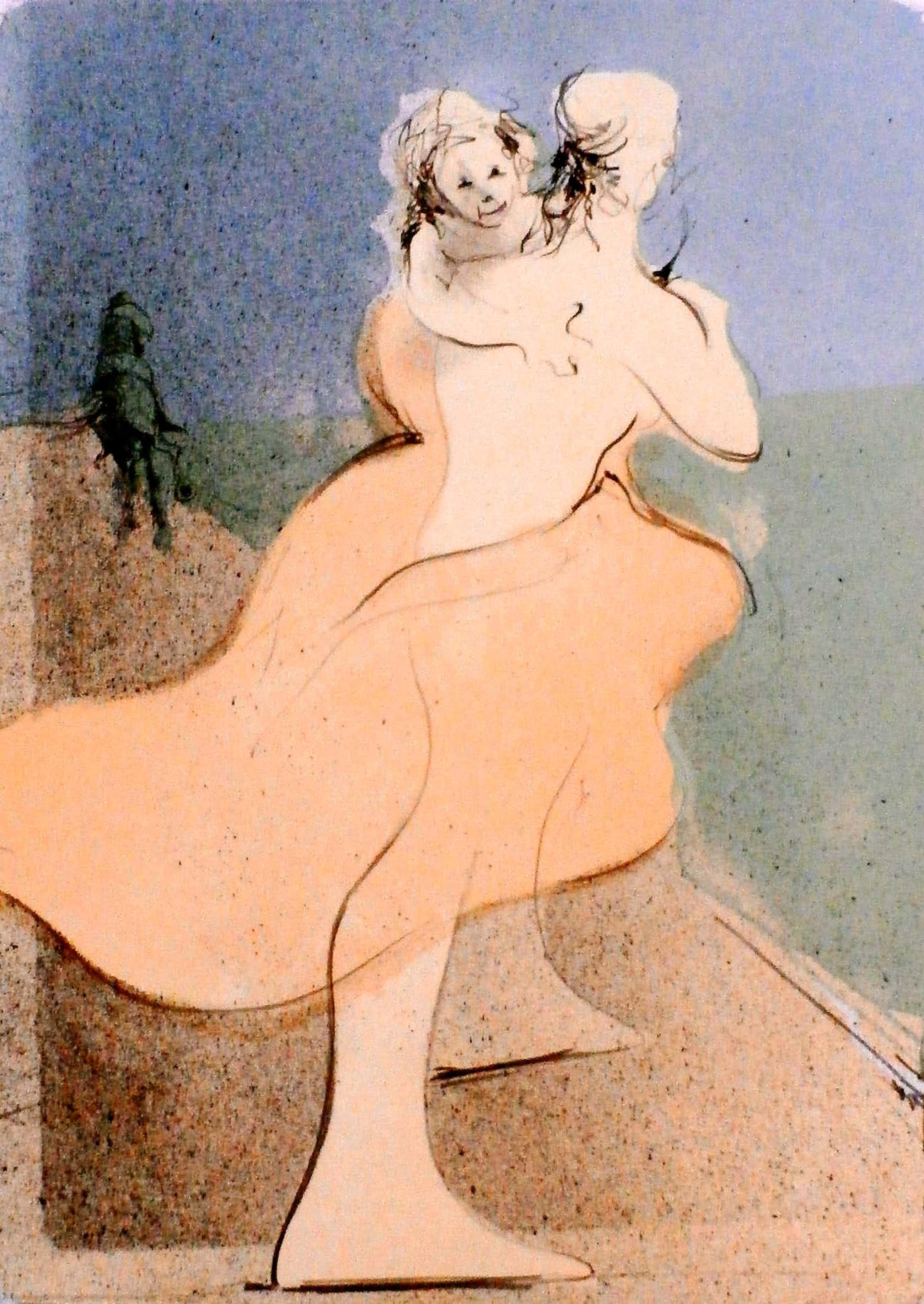 Ronald Tolman - dansende vrouw met kind - 1989 kopen? Bied vanaf 90!