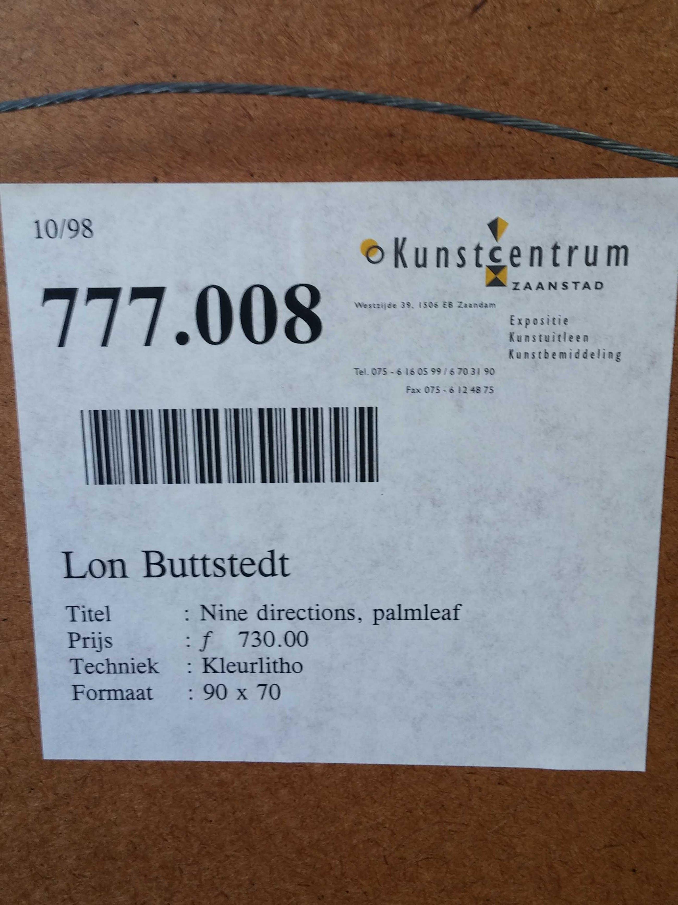 Lon Buttstedt - Nine directions, palm leaf, road - litho kopen? Bied vanaf 10!
