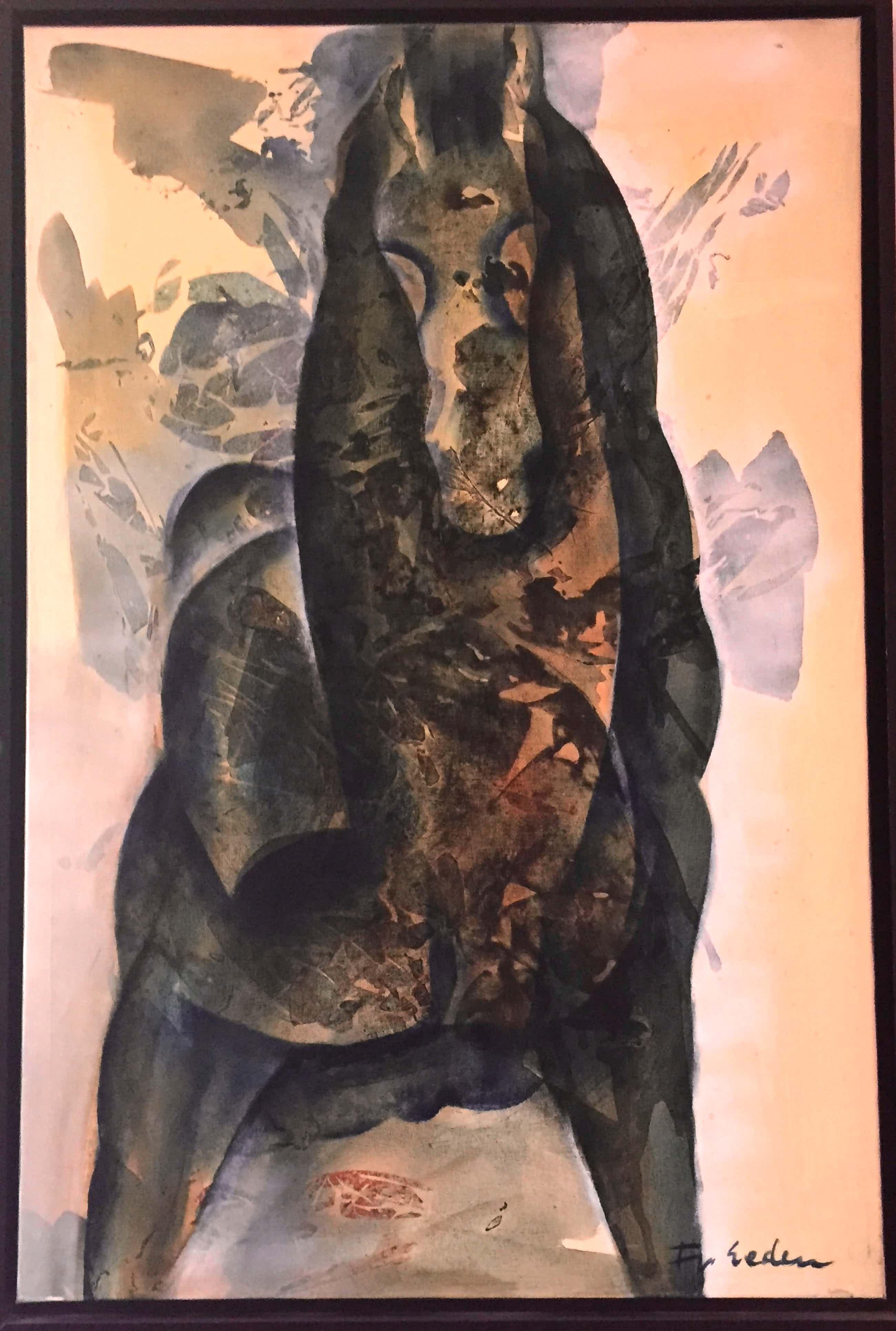 Frits van Eeden - Groot schilderij van paard (1/2) kopen? Bied vanaf 300!