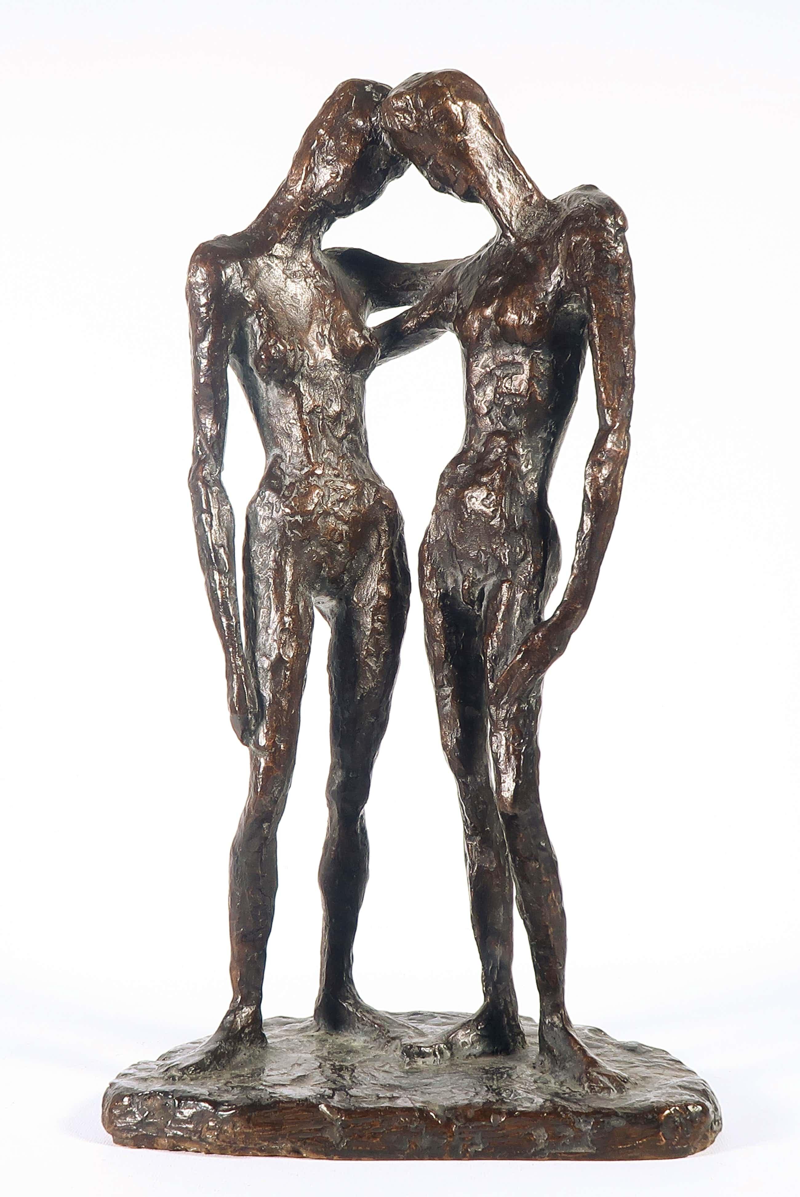 Wessel Couzijn - Bronzen beeld, Adam en Eva kopen? Bied vanaf 1200!