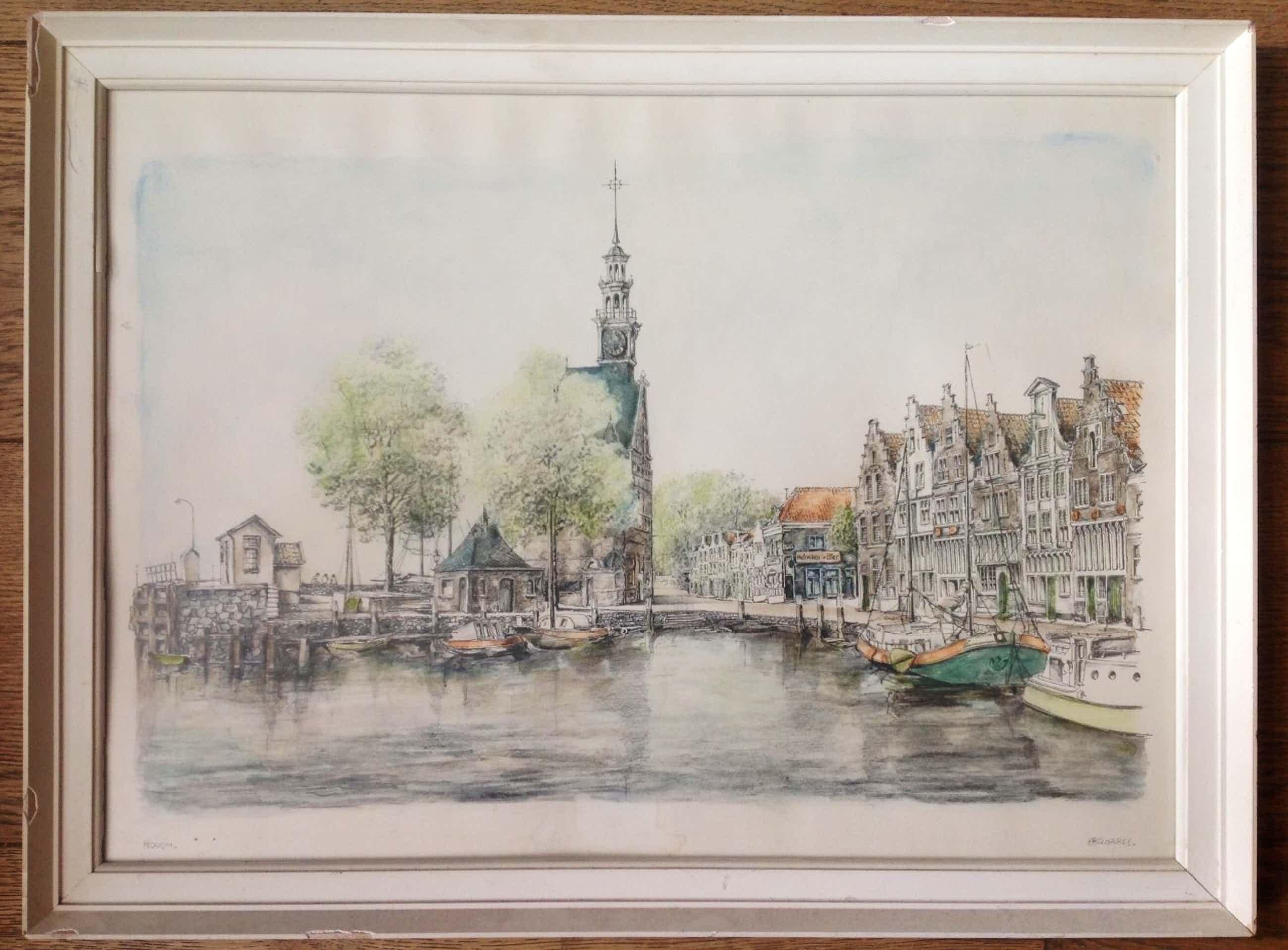 Bob Brobbel - Stadsgezicht Hoorn (NH) kopen? Bied vanaf 25!