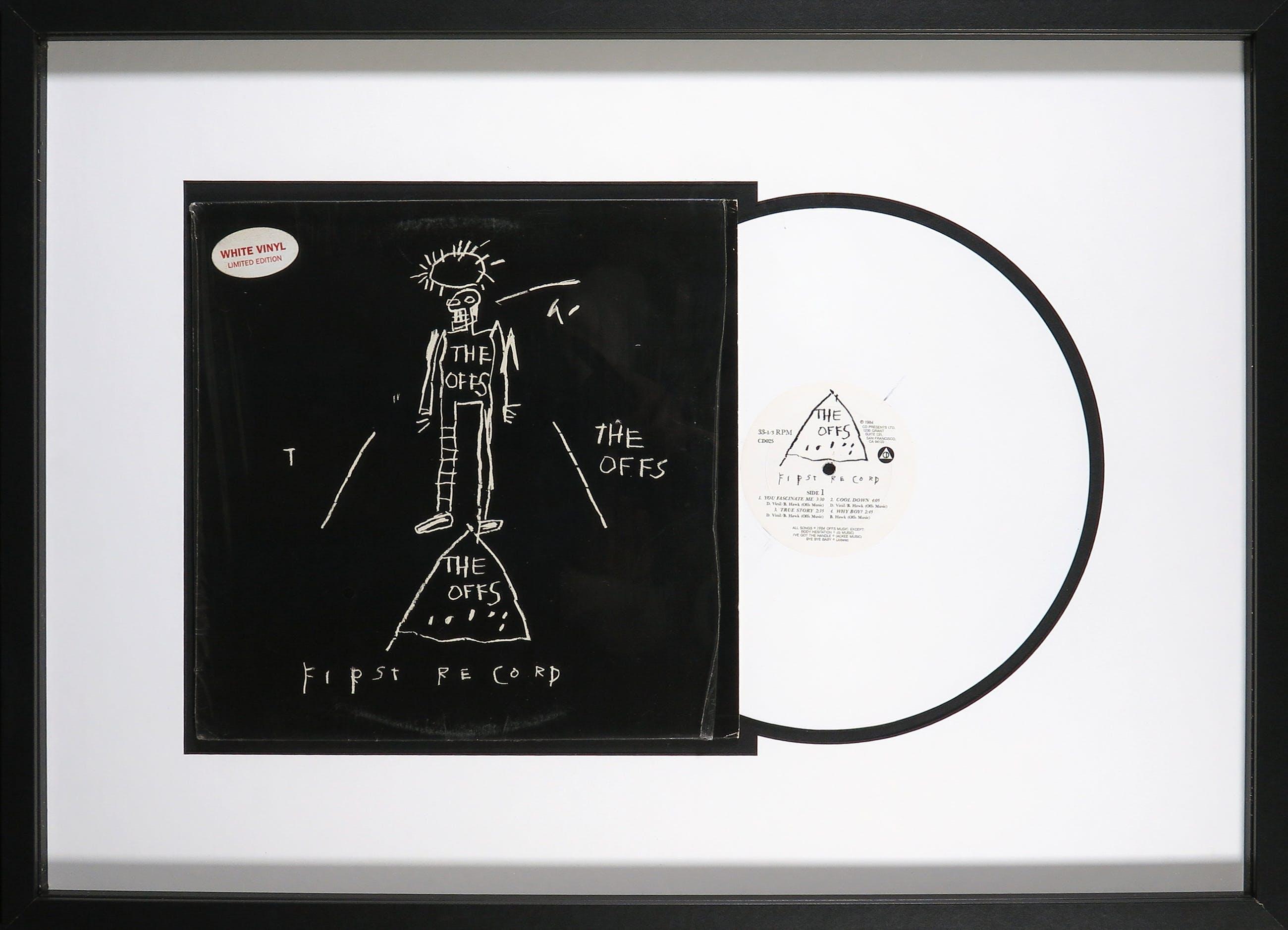 Jean-Michel Basquiat - The Offs: First Record - Originele White Vinyl pressing - Ingelijst kopen? Bied vanaf 1!