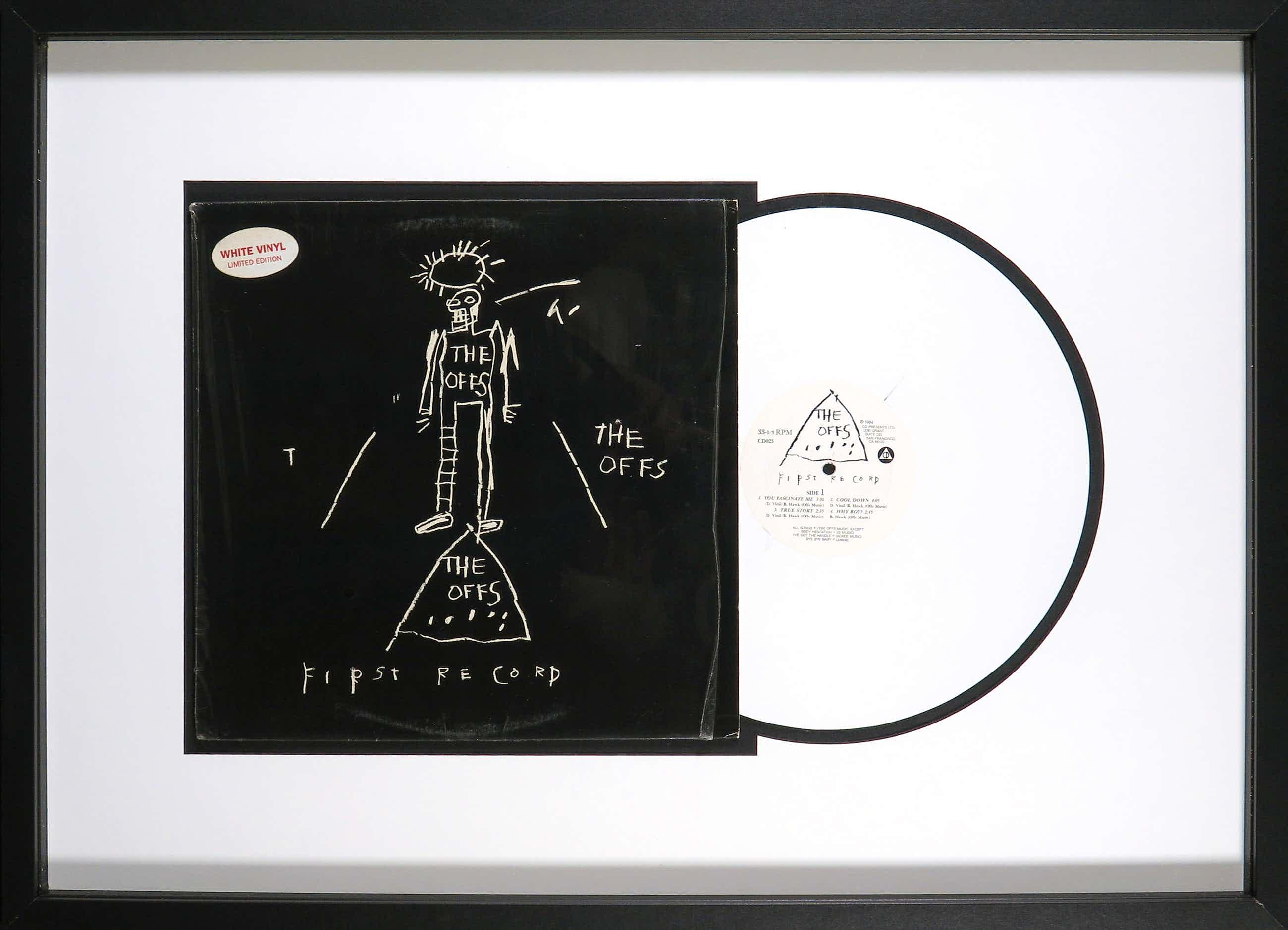 Jean-Michel Basquiat - The Offs: First Record - Originele White Vinyl pressing - Ingelijst kopen? Bied vanaf 383!