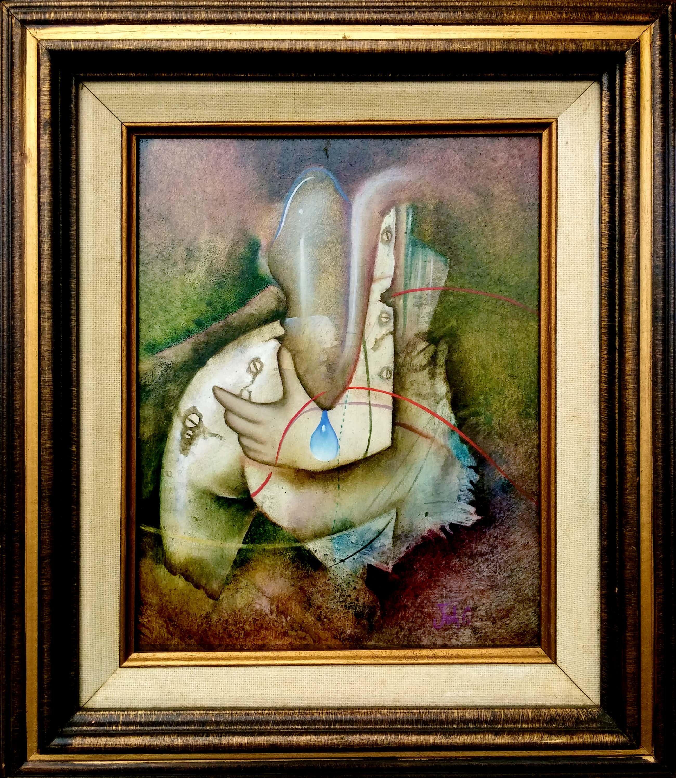 Johannes Garst - De Hand -9- Surrealistisch werk in knappe lijst kopen? Bied vanaf 52!