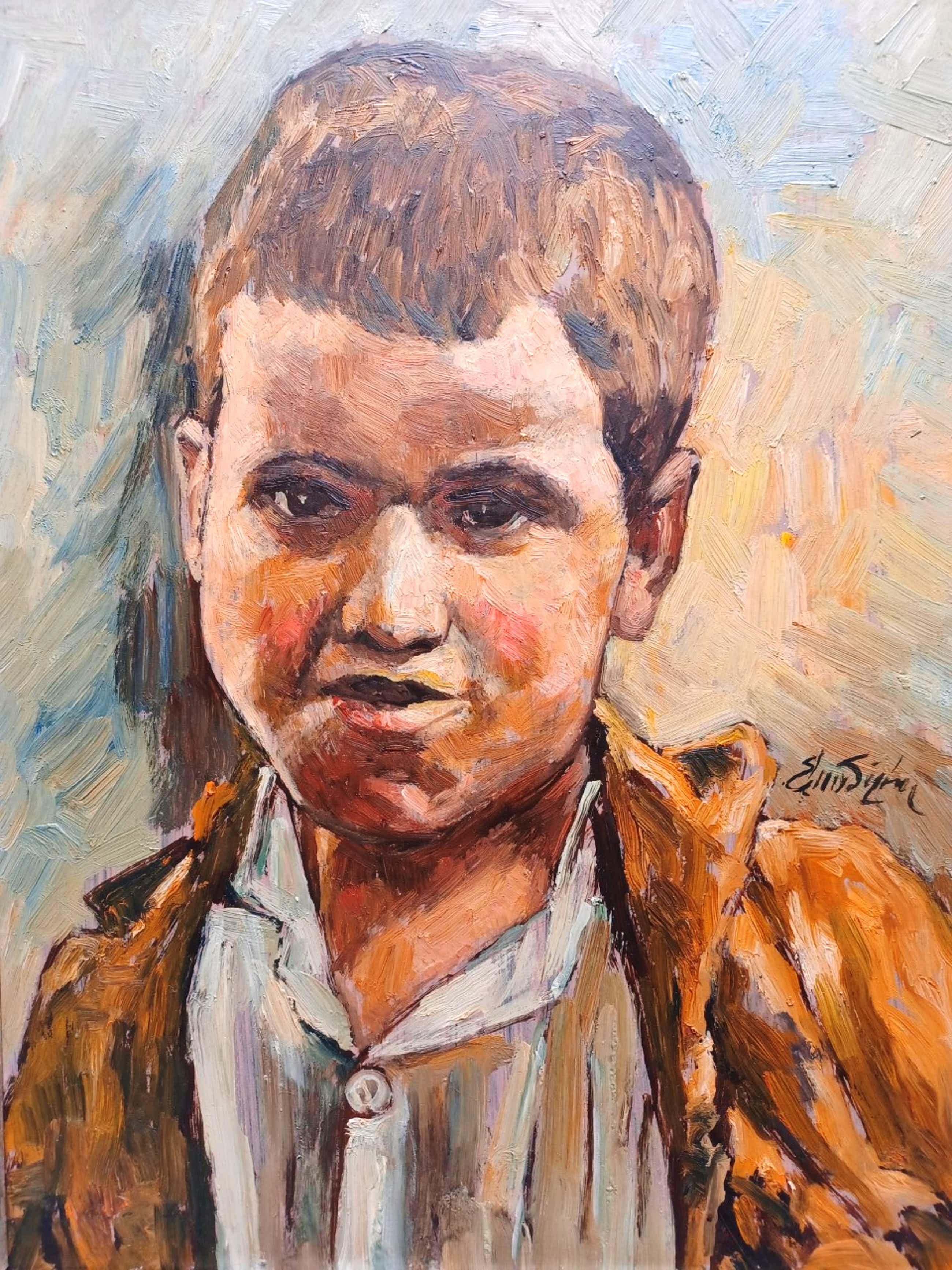 Edmond von Sijben de Maroije - portret van een jongen. kopen? Bied vanaf 59!