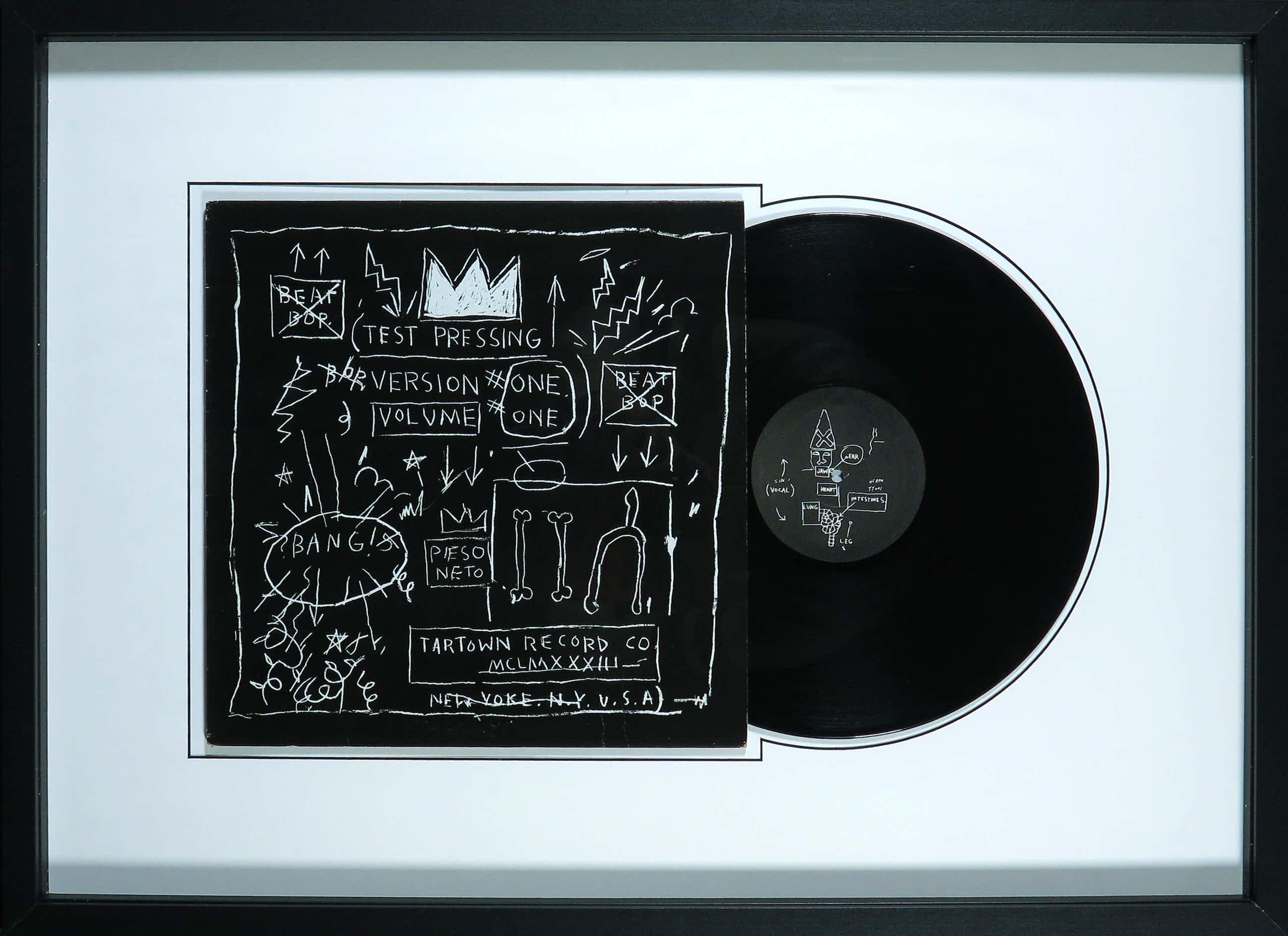 Jean-Michel Basquiat - LP-hoes, Rammellzee, K-Rob: Beat Bop - Ingelijst kopen? Bied vanaf 660!